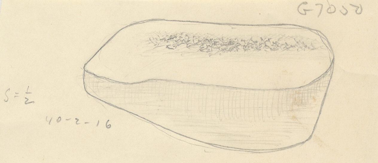 Drawings:  G 7050: whetstone, sandstone