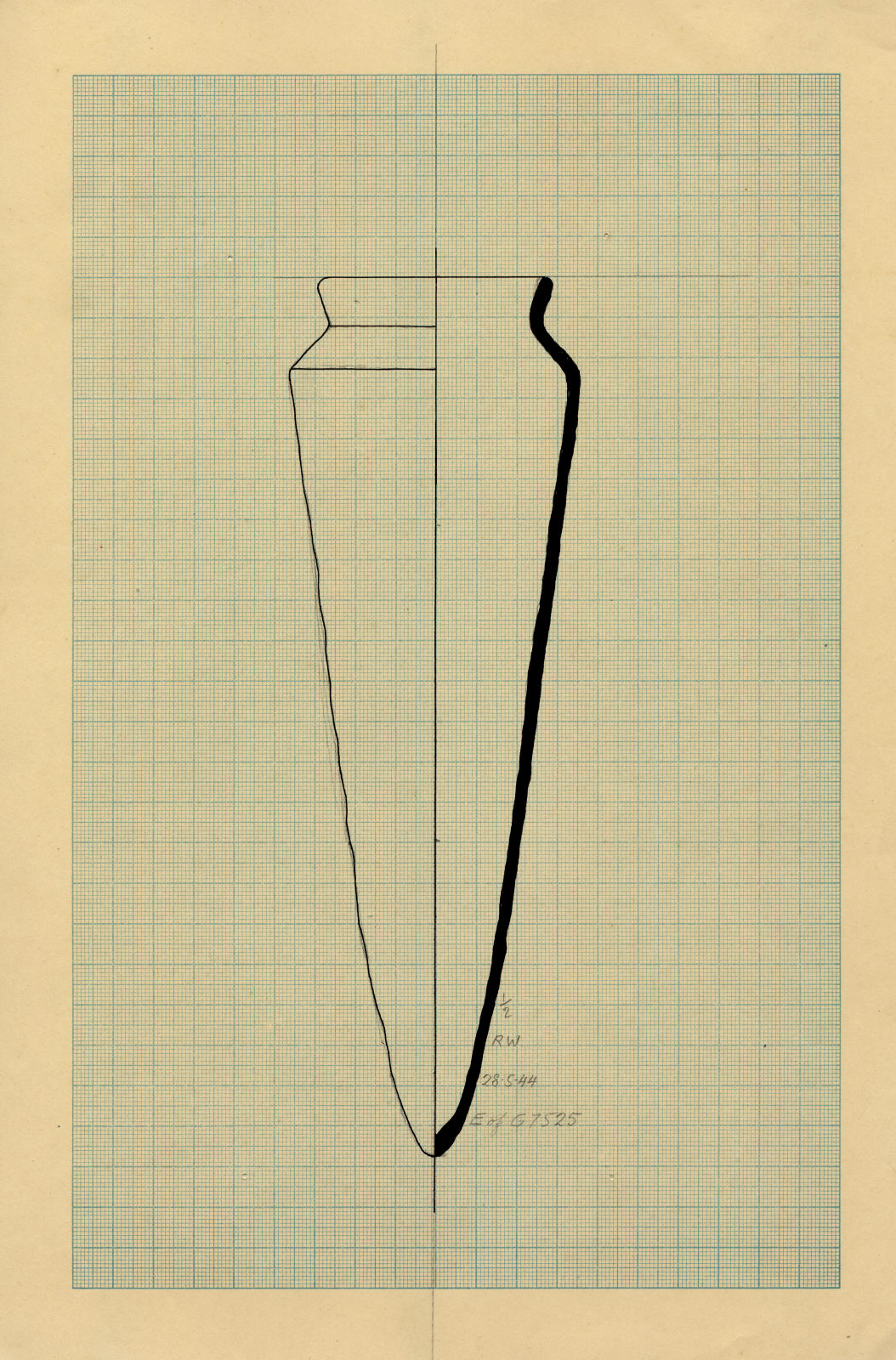 Drawings: G 7525: pottery, offering jar from E of tomb