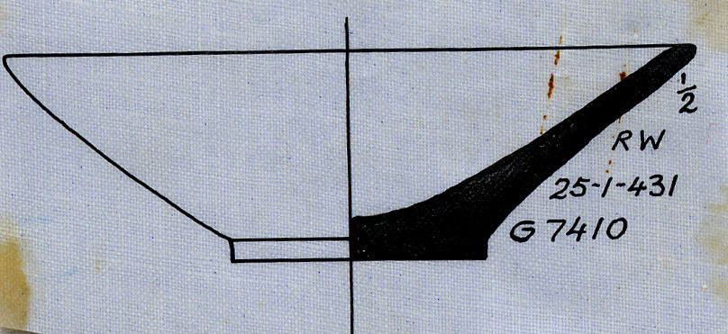 Drawings: G 7410: pottery, model dish