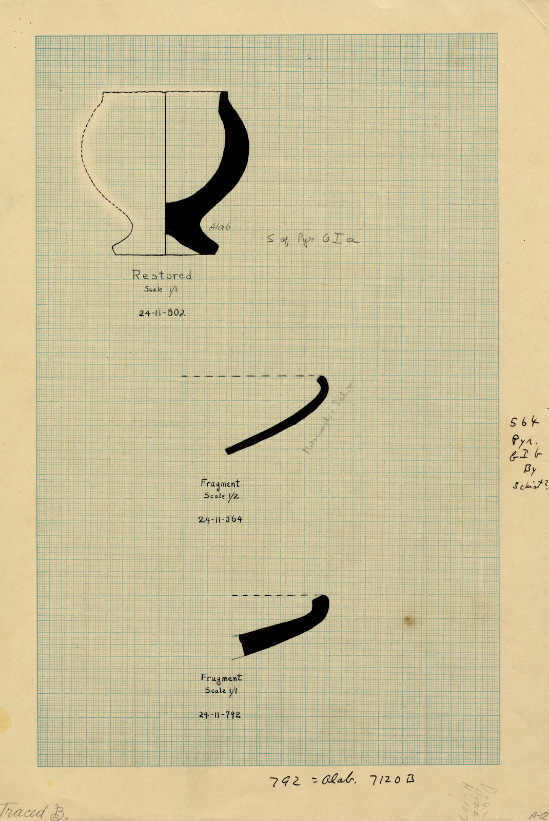 Drawings: Objects from Avenue G 1, S of G I-a; Avenue G 1, N of G I-b; near G 7120