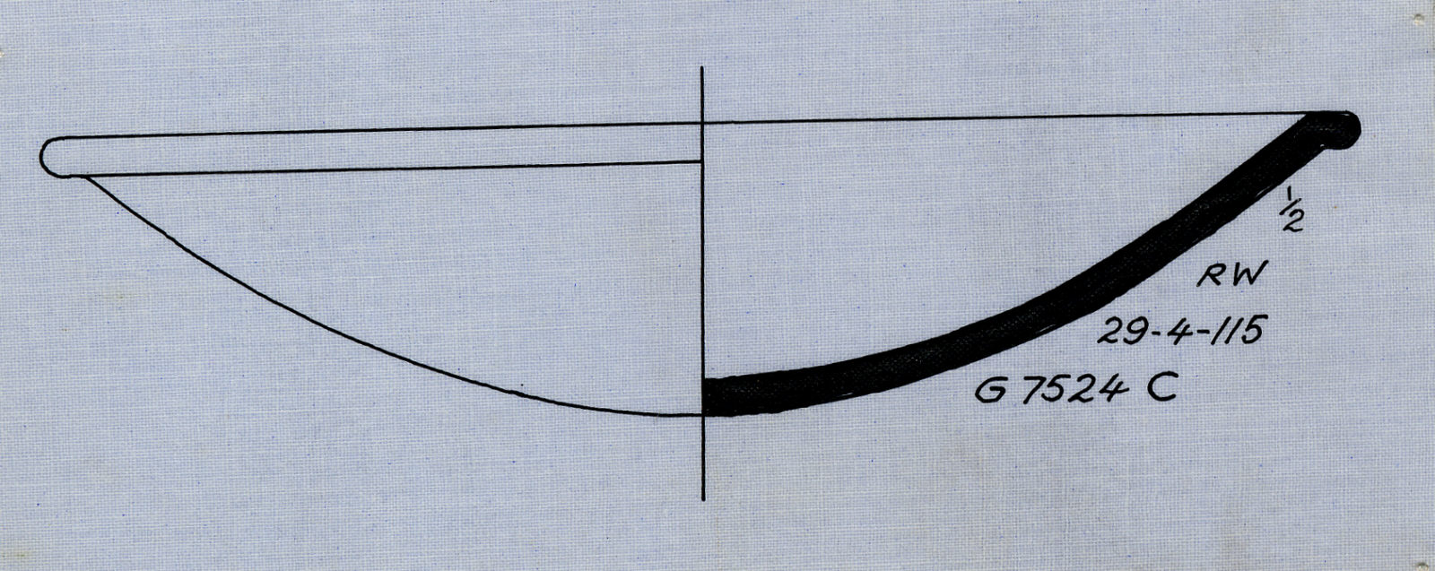 Drawings: G 7524, Shaft C: pottery, bowl