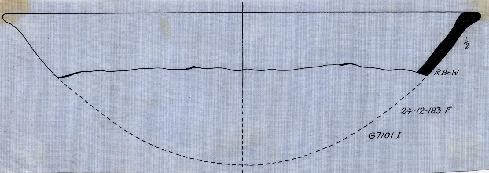Drawings: G 7101, Shaft I: pottery, bowl