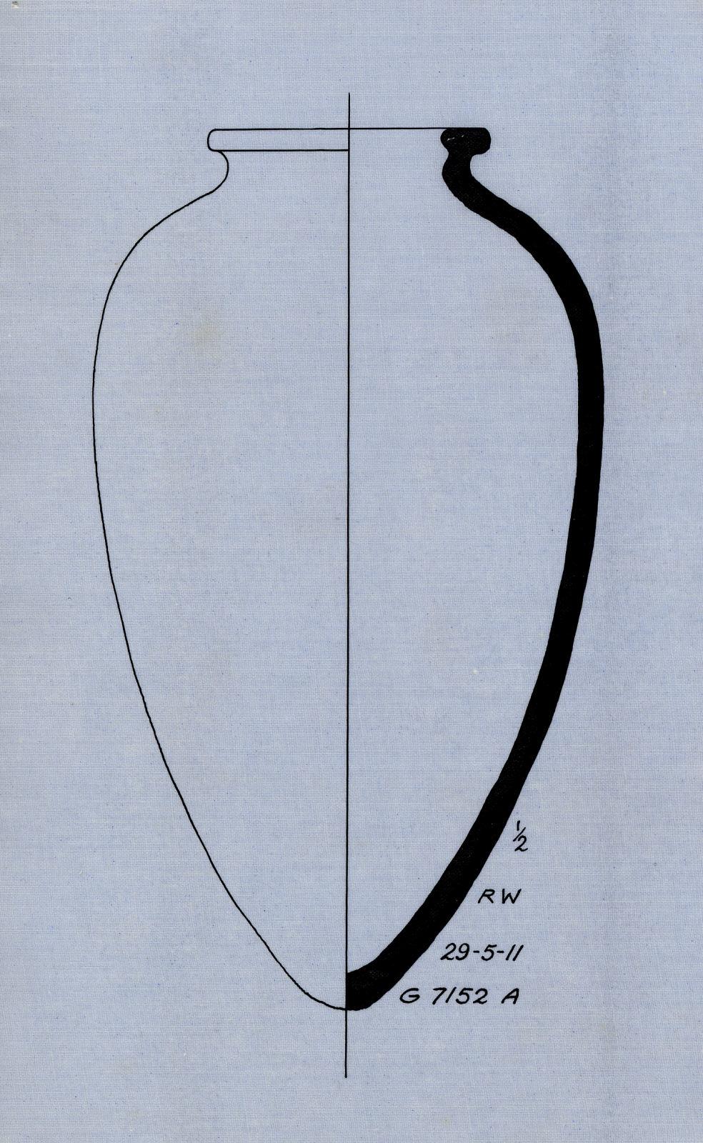 Drawings: G 7152, Shaft A: pottery, jar
