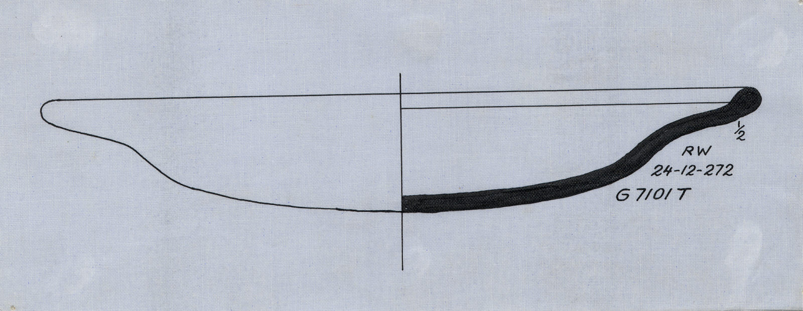 Drawings: G 7101, Shaft T: pottery, dish