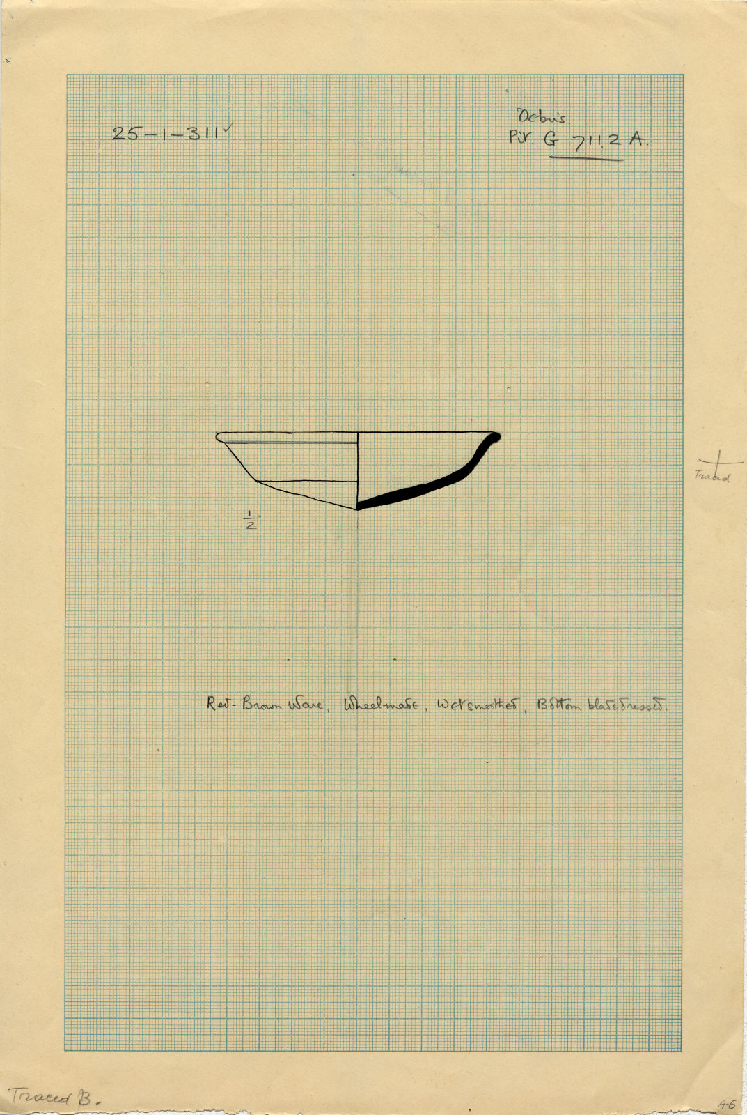Drawings: G 7112, Shaft A: pottery, inscribed