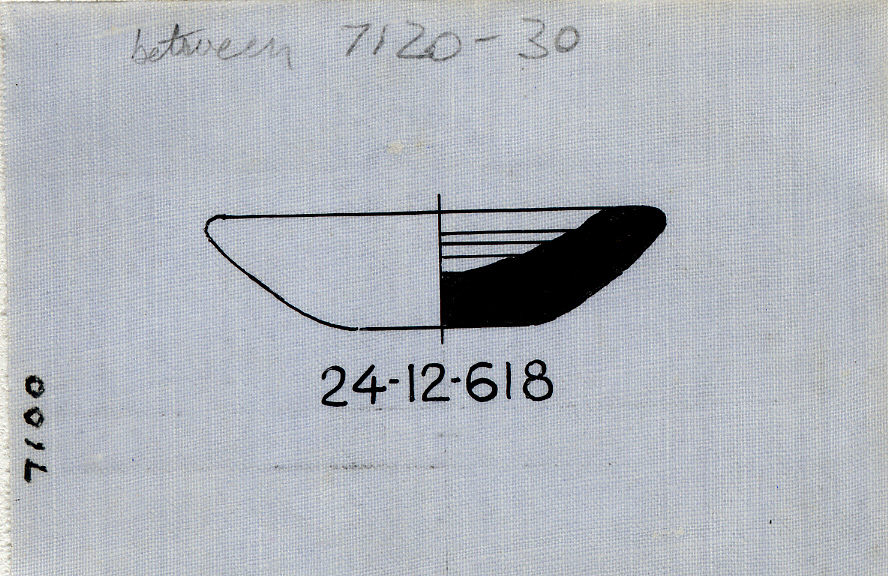 Drawings: Street G 7100, E of G 7120: model dish, alabaster