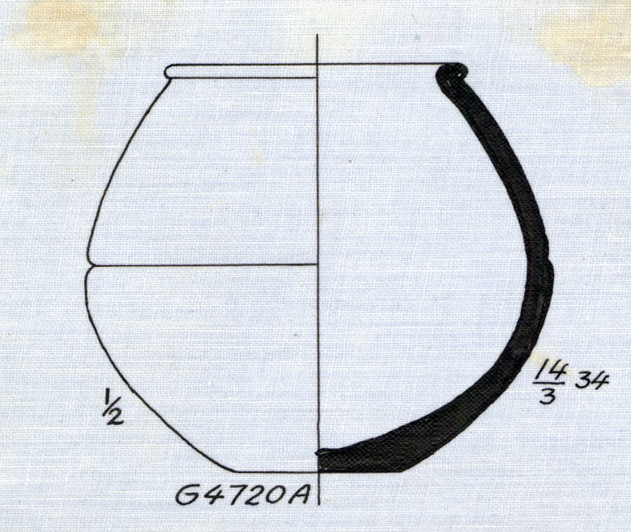Drawings: G 4720, Shaft A: pottery, jar