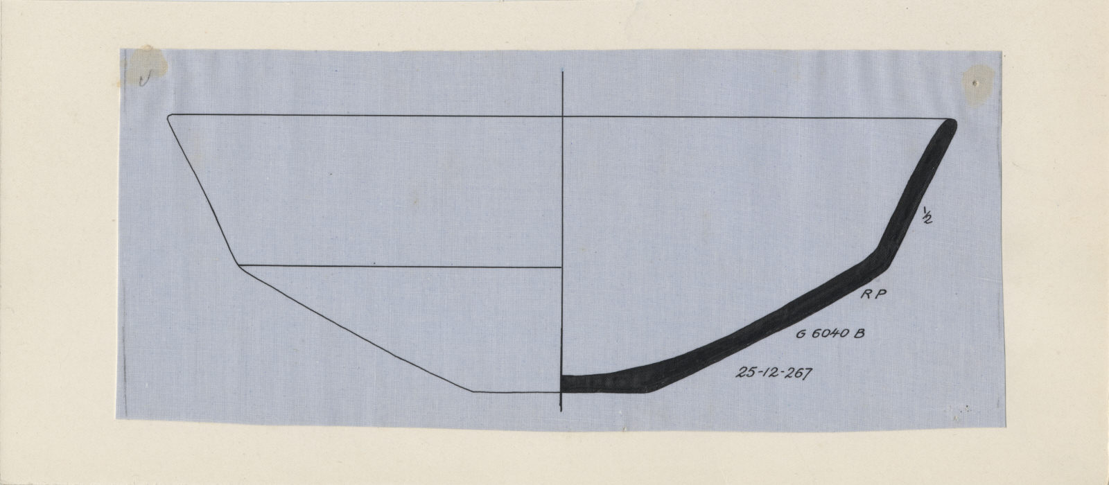 Drawings: G 6040, Shaft B: pottery, carinated bowl