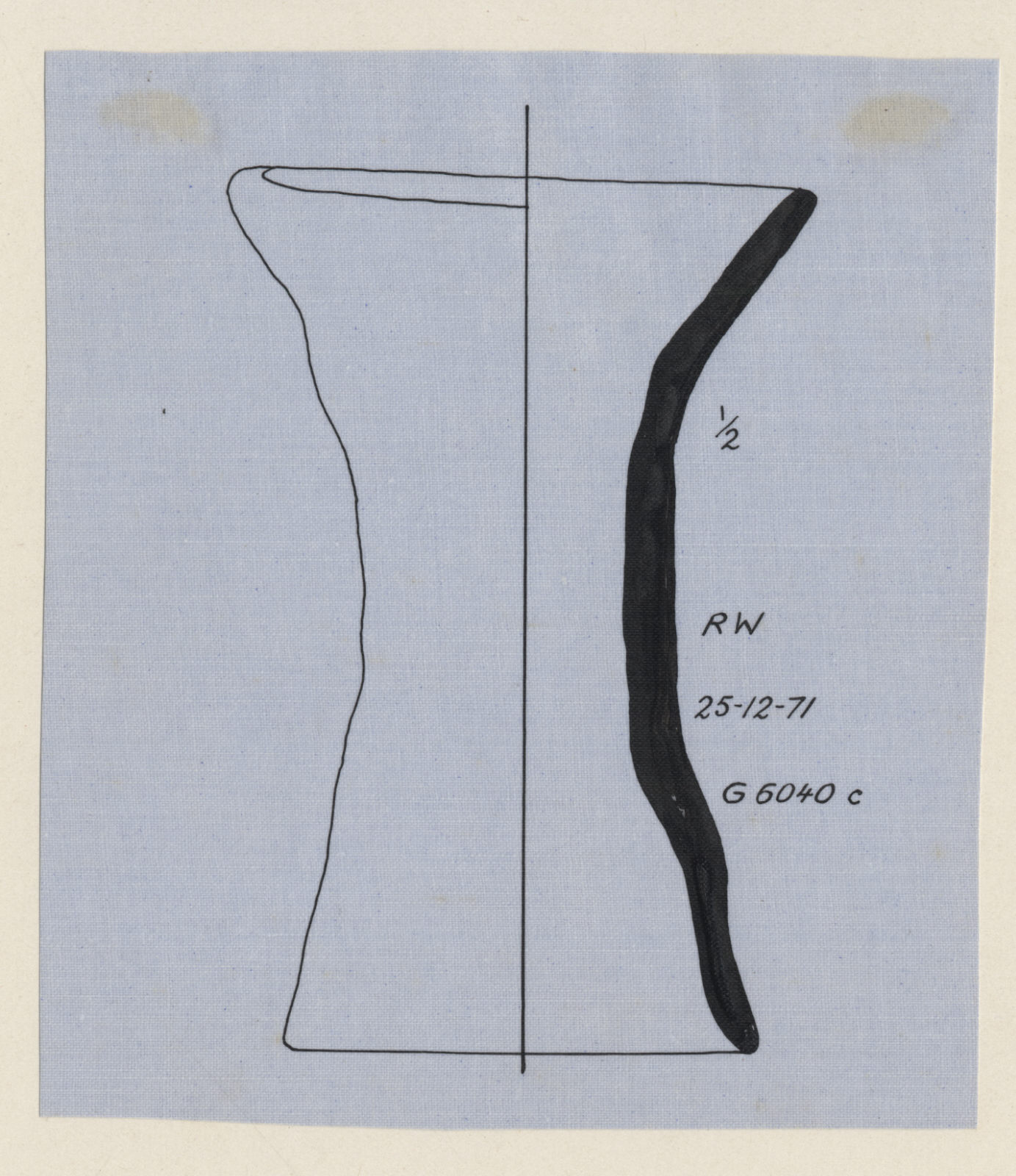 """Drawings: G 6040, Room """"c"""": pottery, stand"""