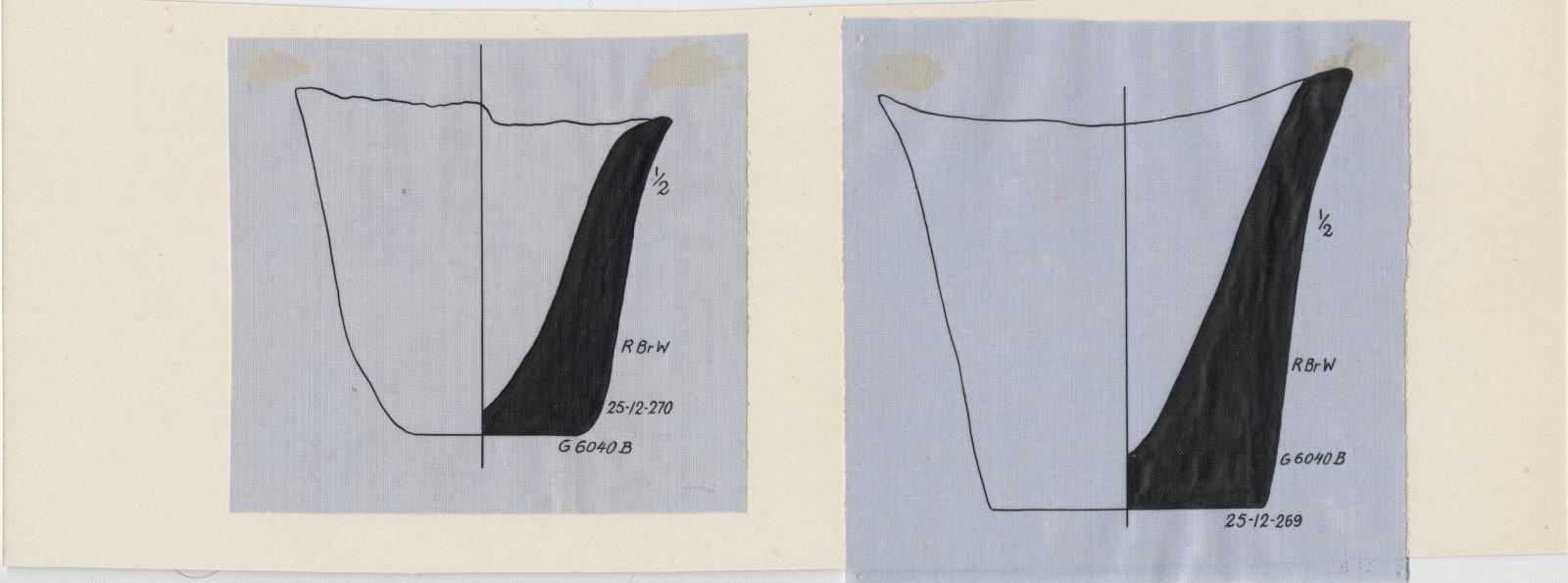 Drawings: G 6040, Shaft B: pottery, jar fragments