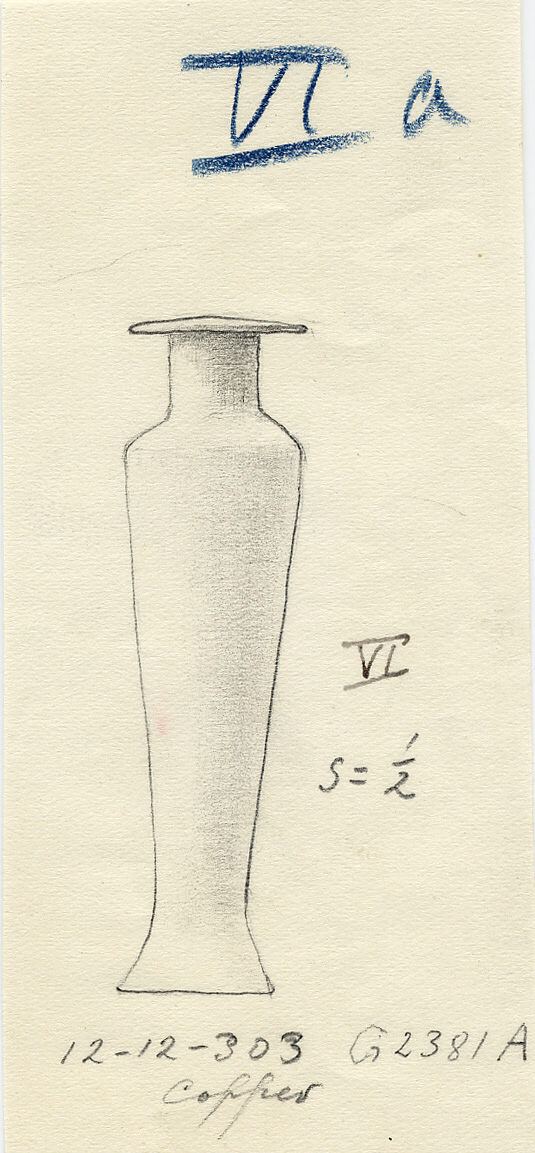 Drawings: G 2381, Shaft A: model hes-vase, copper