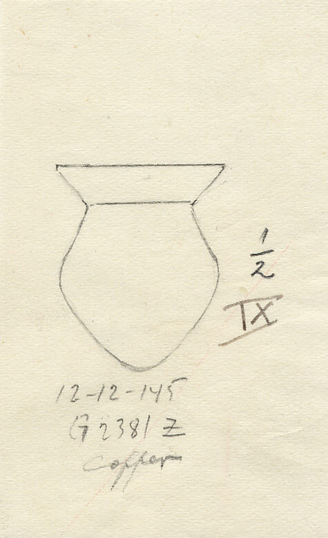 Drawings: G 2381, Shaft Z: model jar, copper