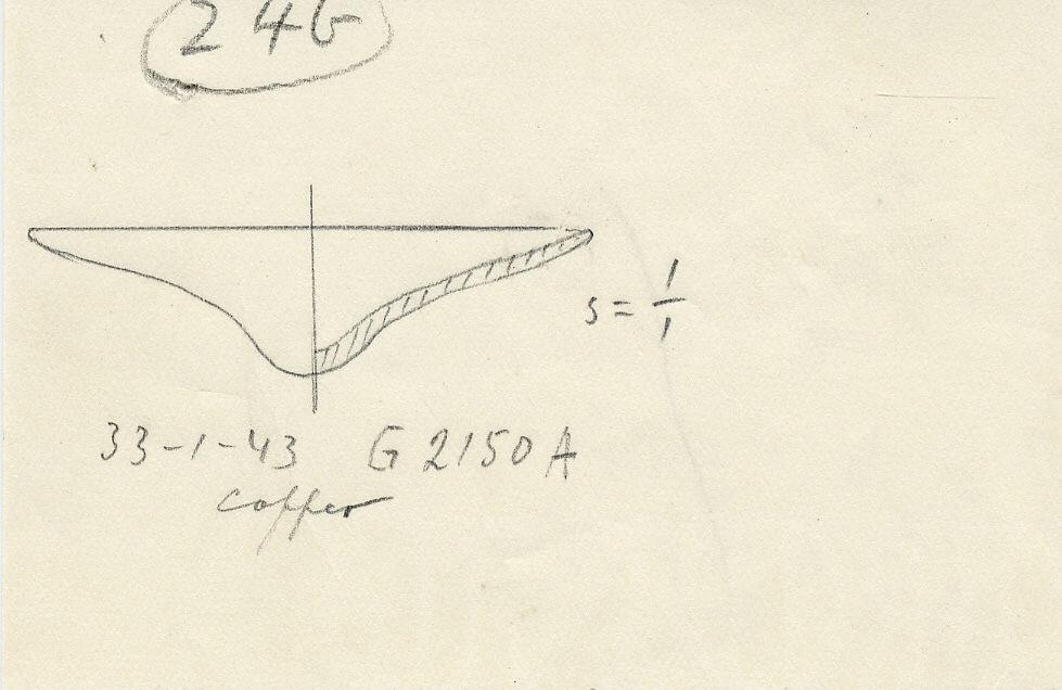 Drawings: G 2150, Shaft A: model lid (?), copper