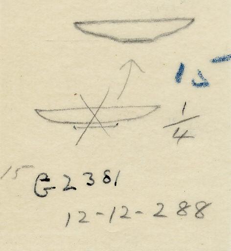Drawings: G 2381, Shaft A: model dish, copper