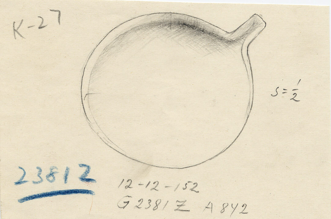 Drawings: G 2381, Shaft Z: bowl with spout, copper