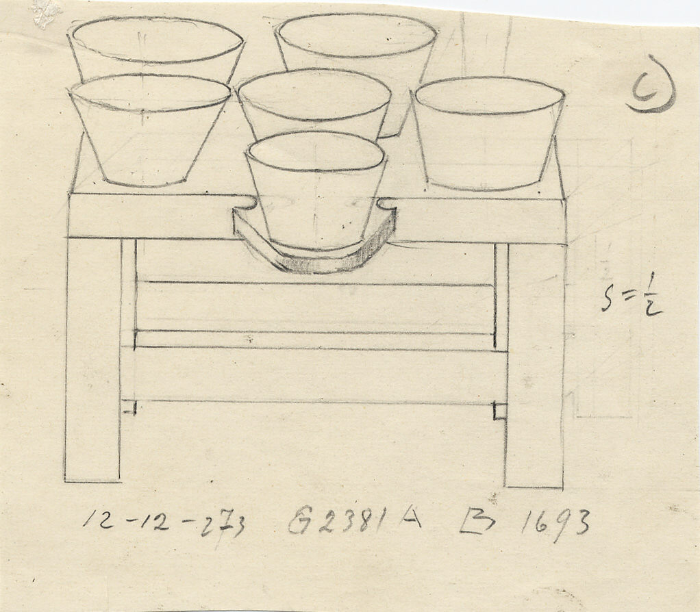 Drawings: G 2381, Shaft A: model table, copper