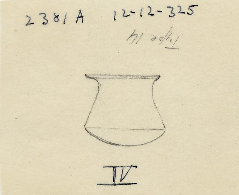 Drawings: G 2381 A: model bag-shaped jar, copper