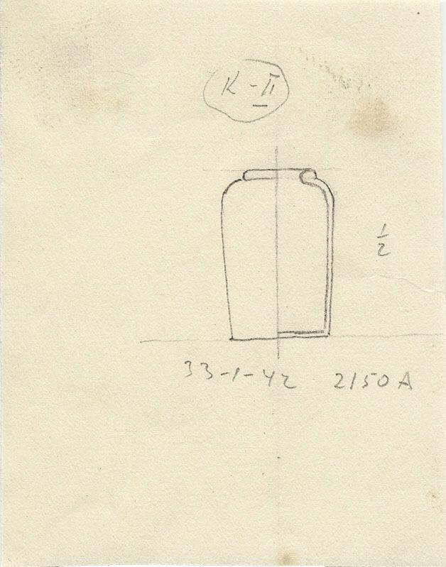 Drawings: G 2150, Shaft A: model shouldered jar, copper
