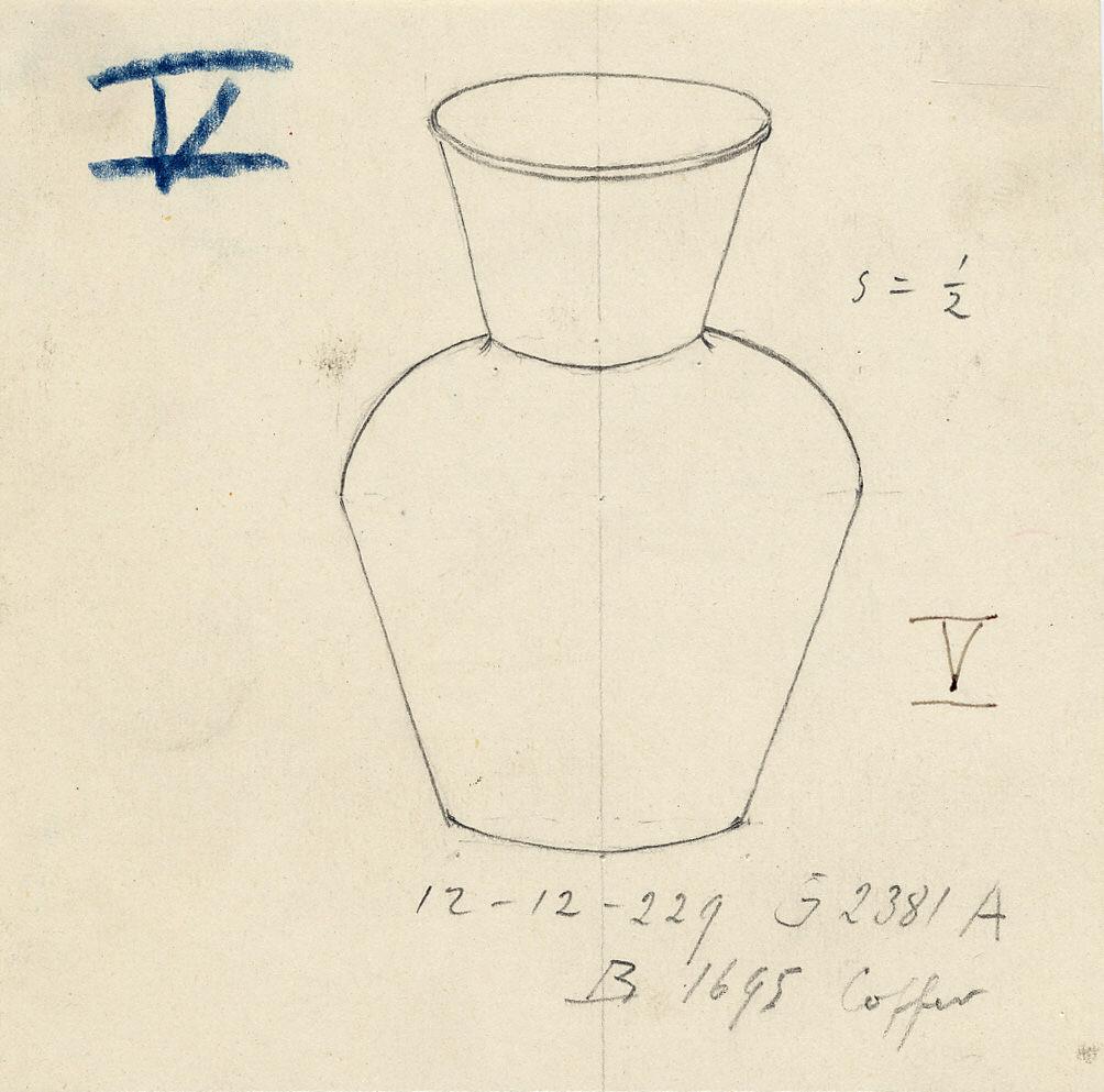 Drawings: G 2381, Shaft A: jar, copper