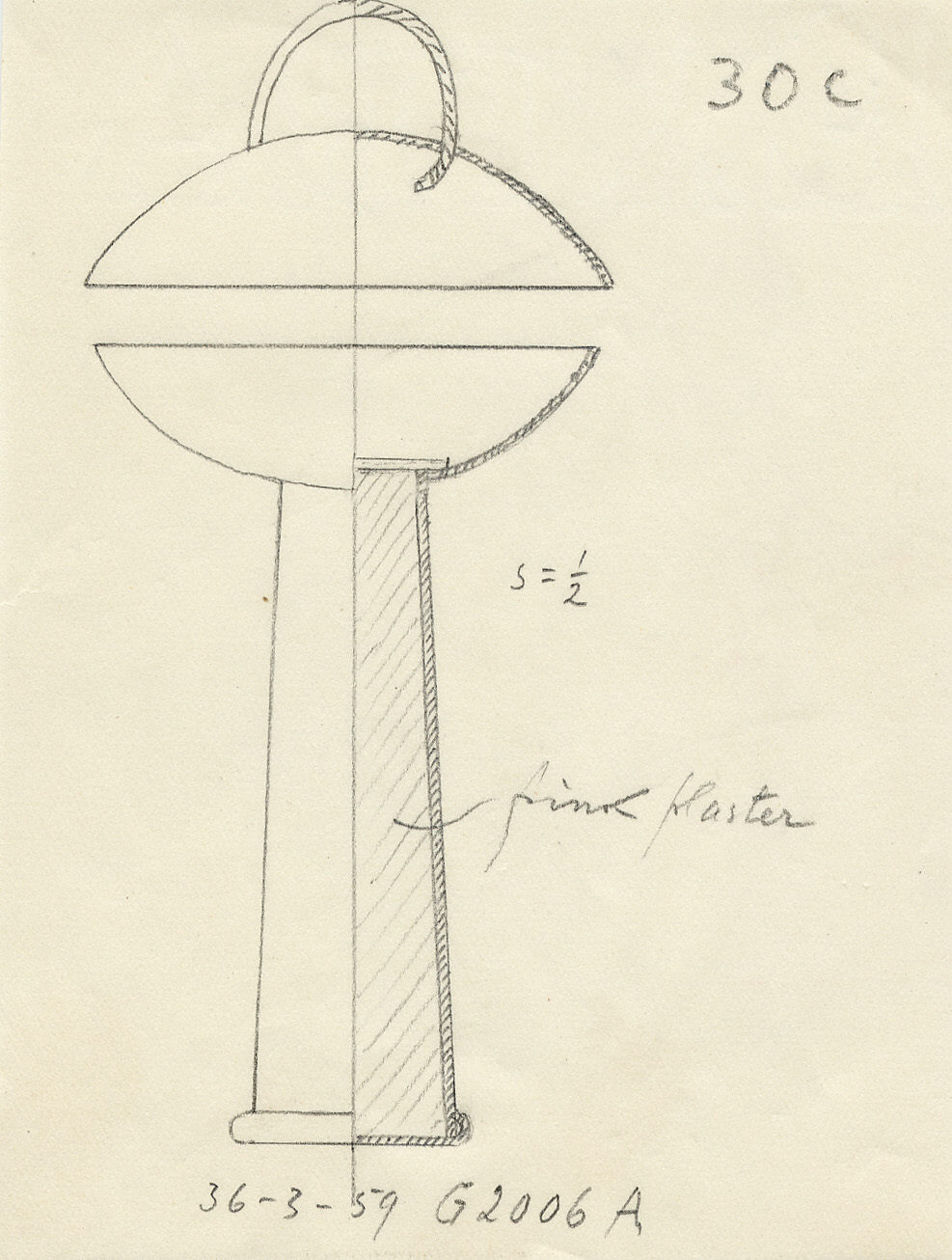 Drawings: G 2006, Shaft A: bell censer, copper