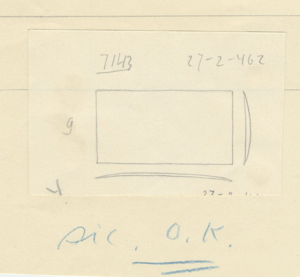 Drawings: G 7143: razor, copper