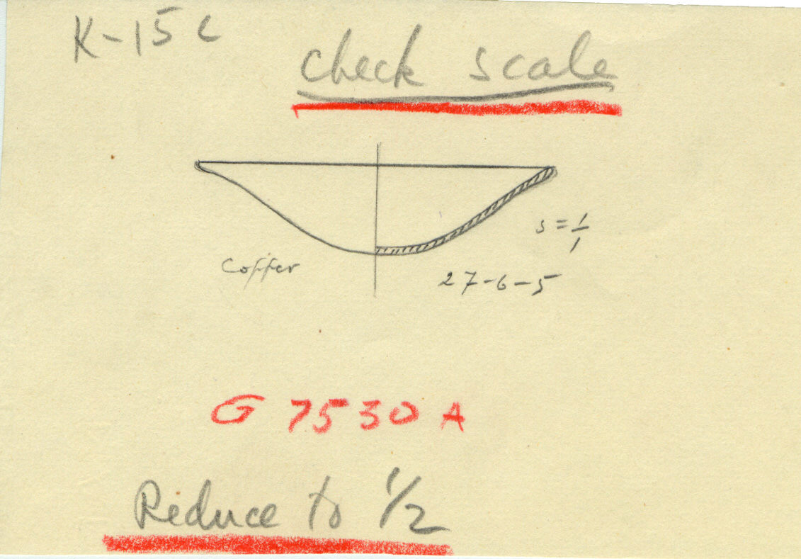 Drawings: G 7530, Shaft A: model dish, copper