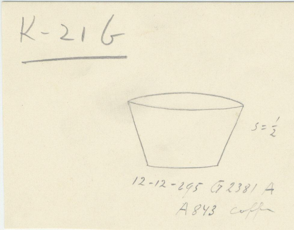 Drawings: G 2381, Shaft A: model basin, copper