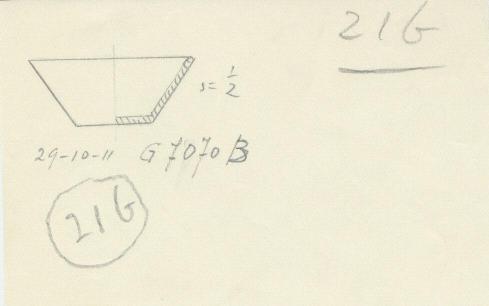 Drawings: G 7070, Shaft B: model dish, copper