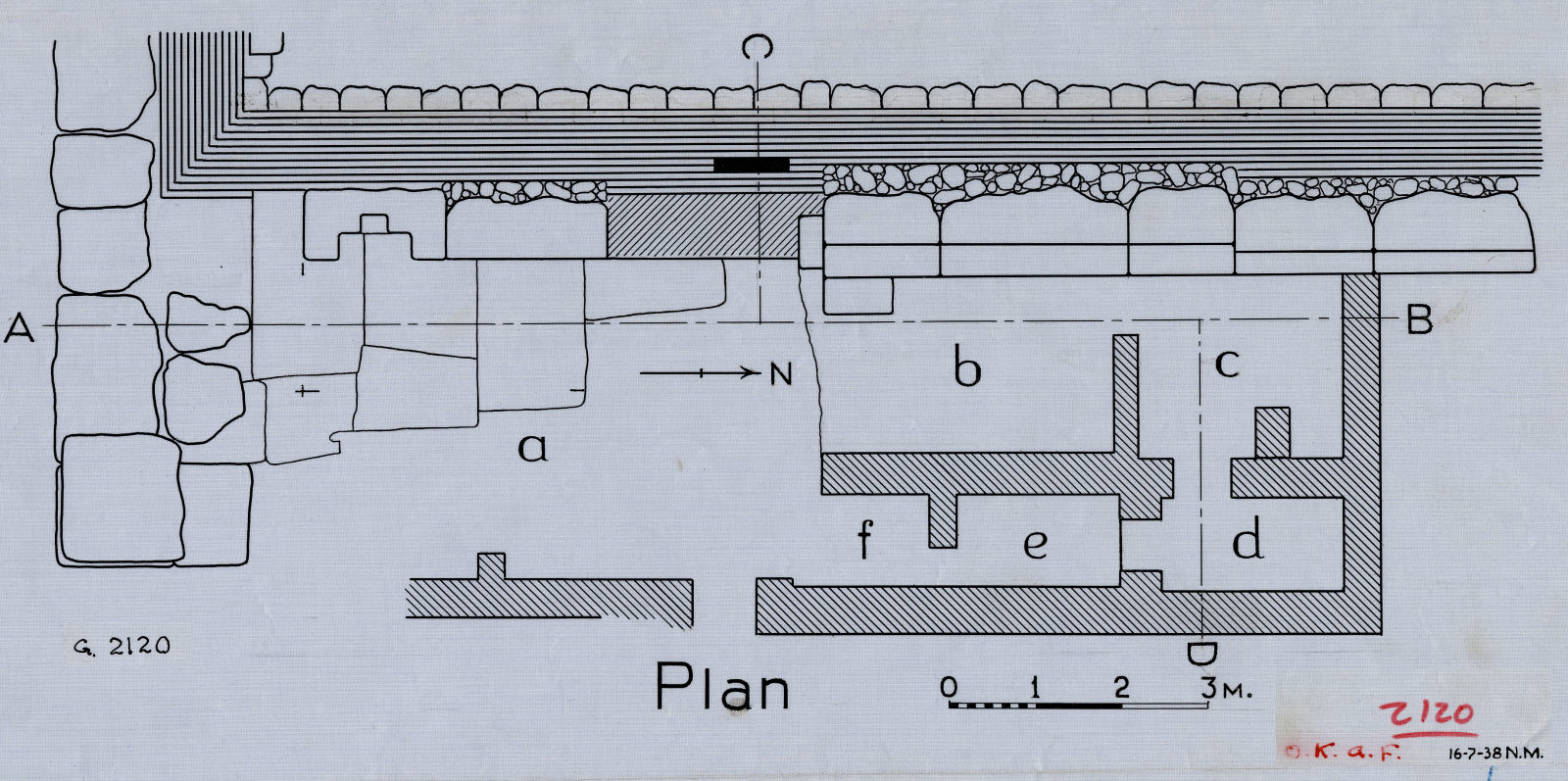 Maps and plans: G 2120, Plan of chapel