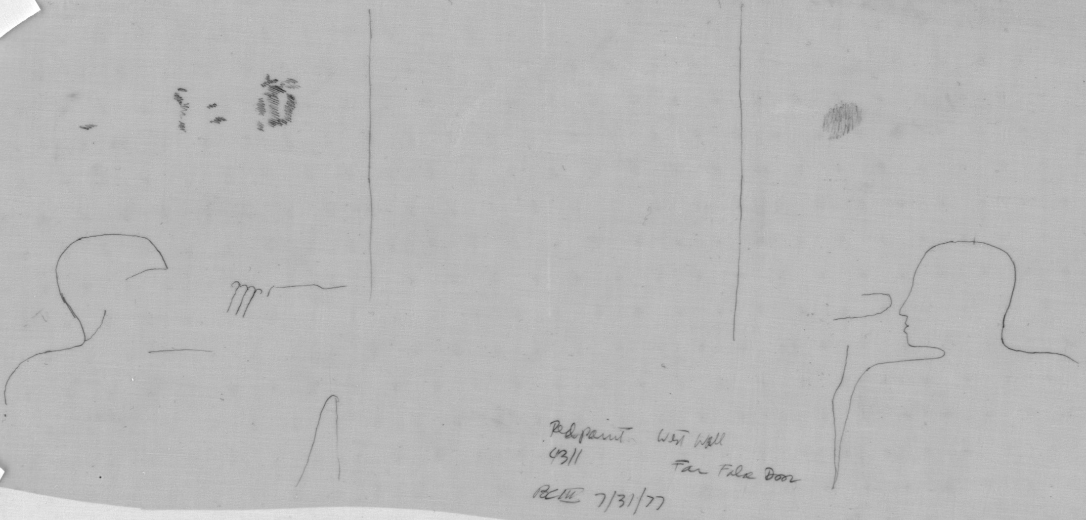Drawings: G 4311: relief from W wall, S false door, with red paint