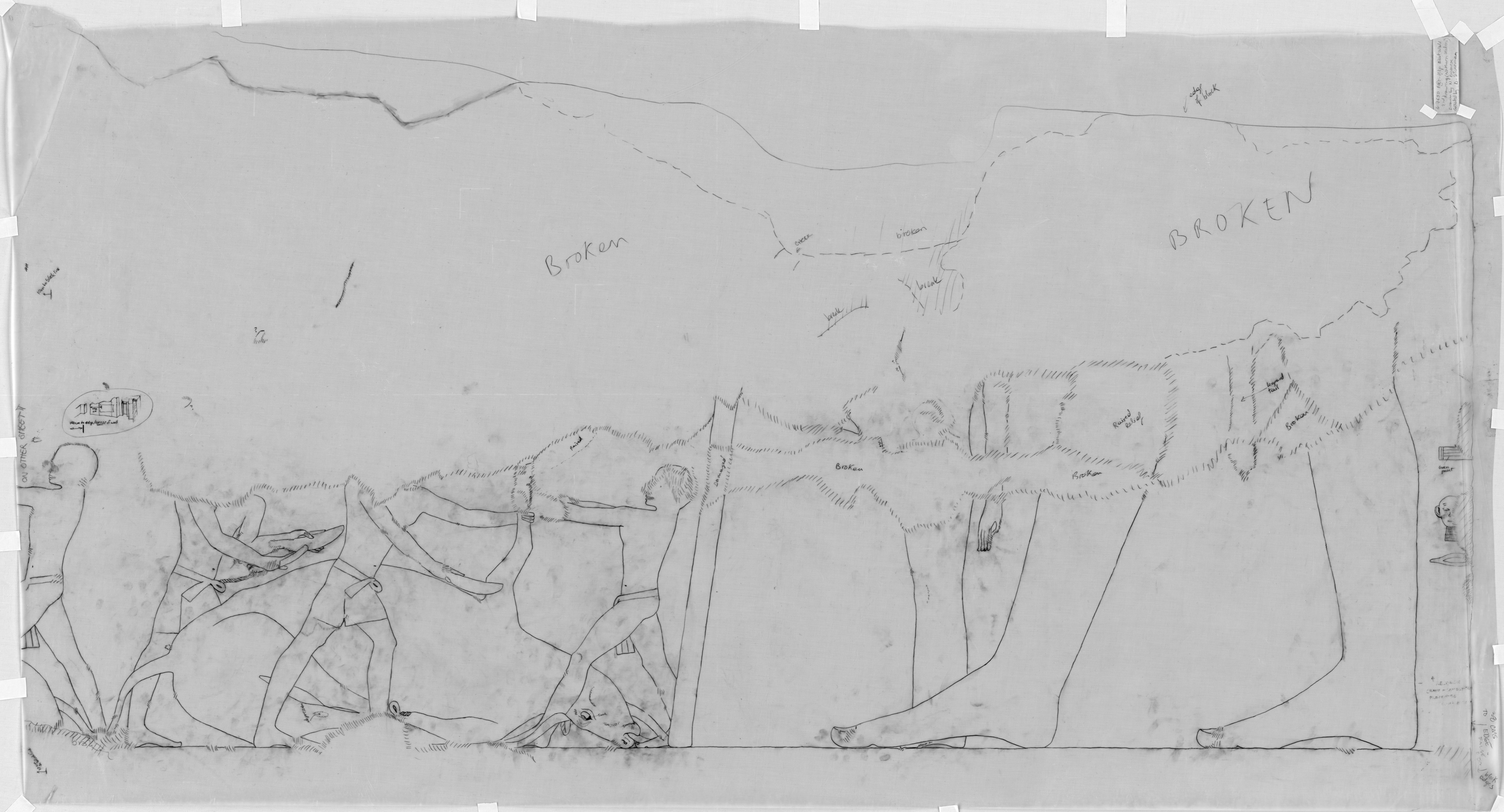 Drawings: G 7650: W wall, detail of N section