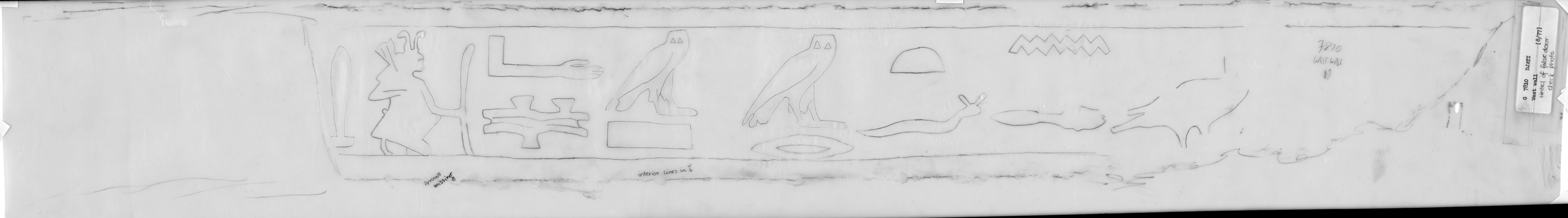 Drawings: G 7810, false door lintel
