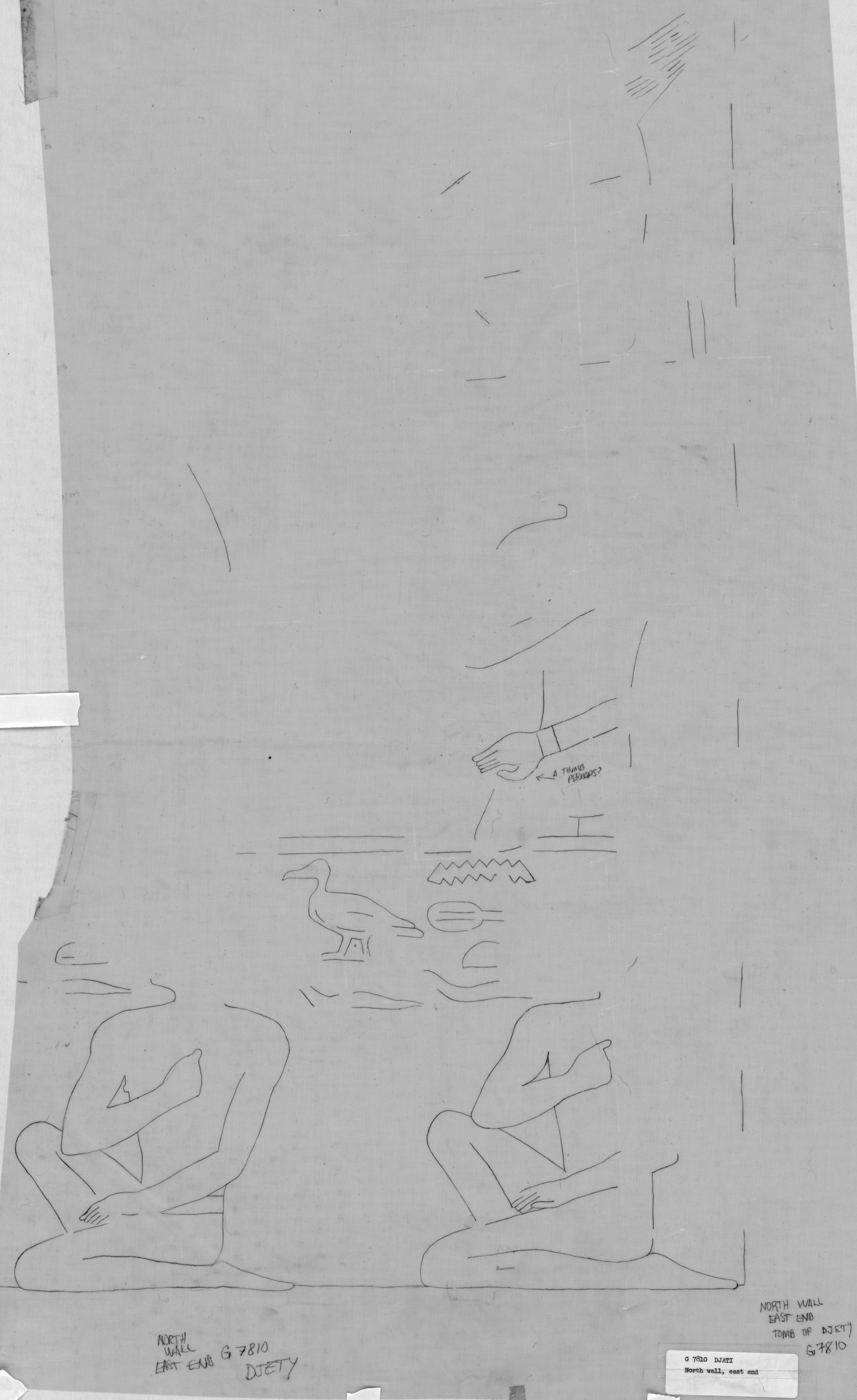 Drawings: G 7810: relief from N wall, E end