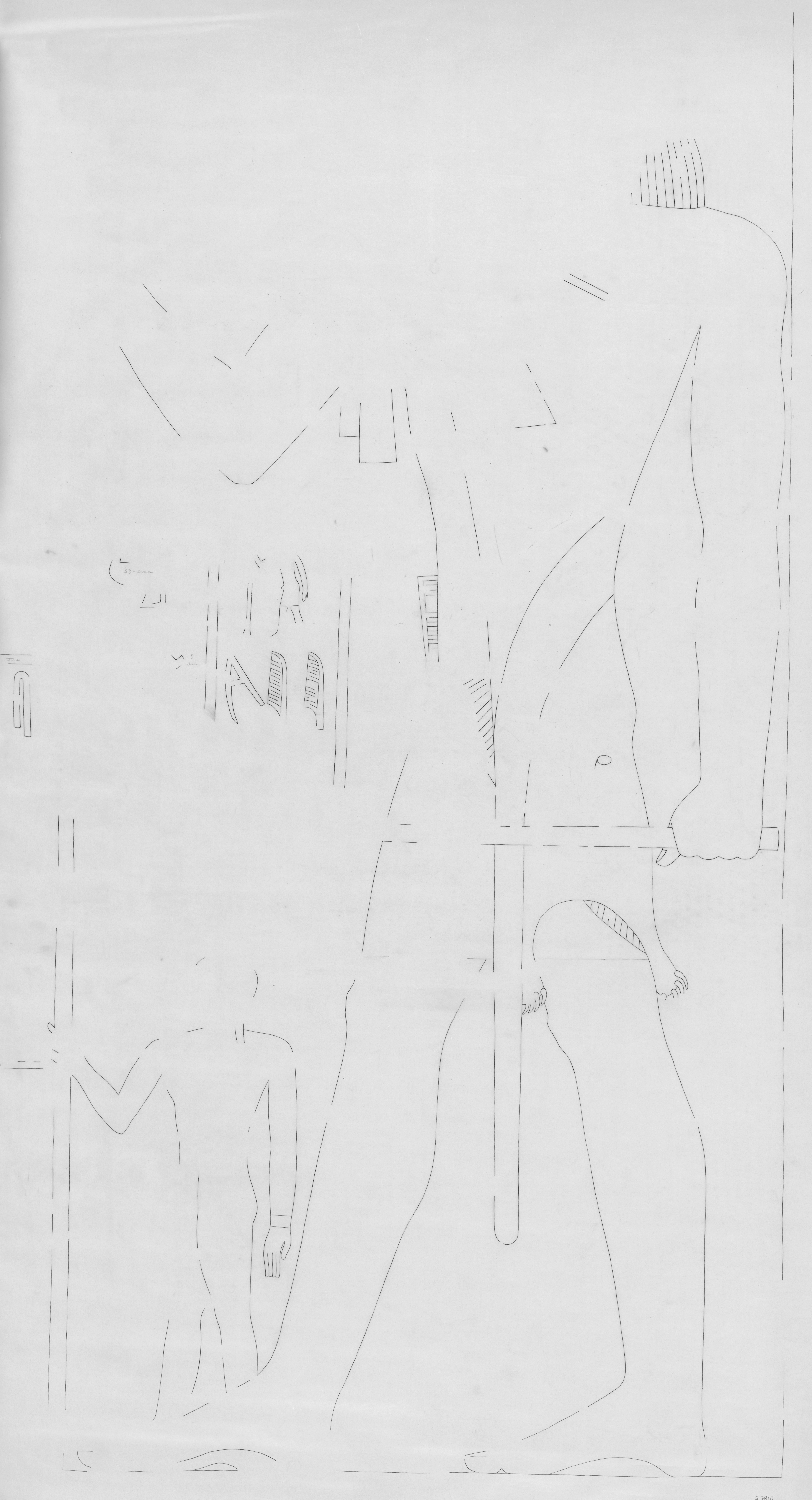 Drawings: G 7810: relief from W wall, N end