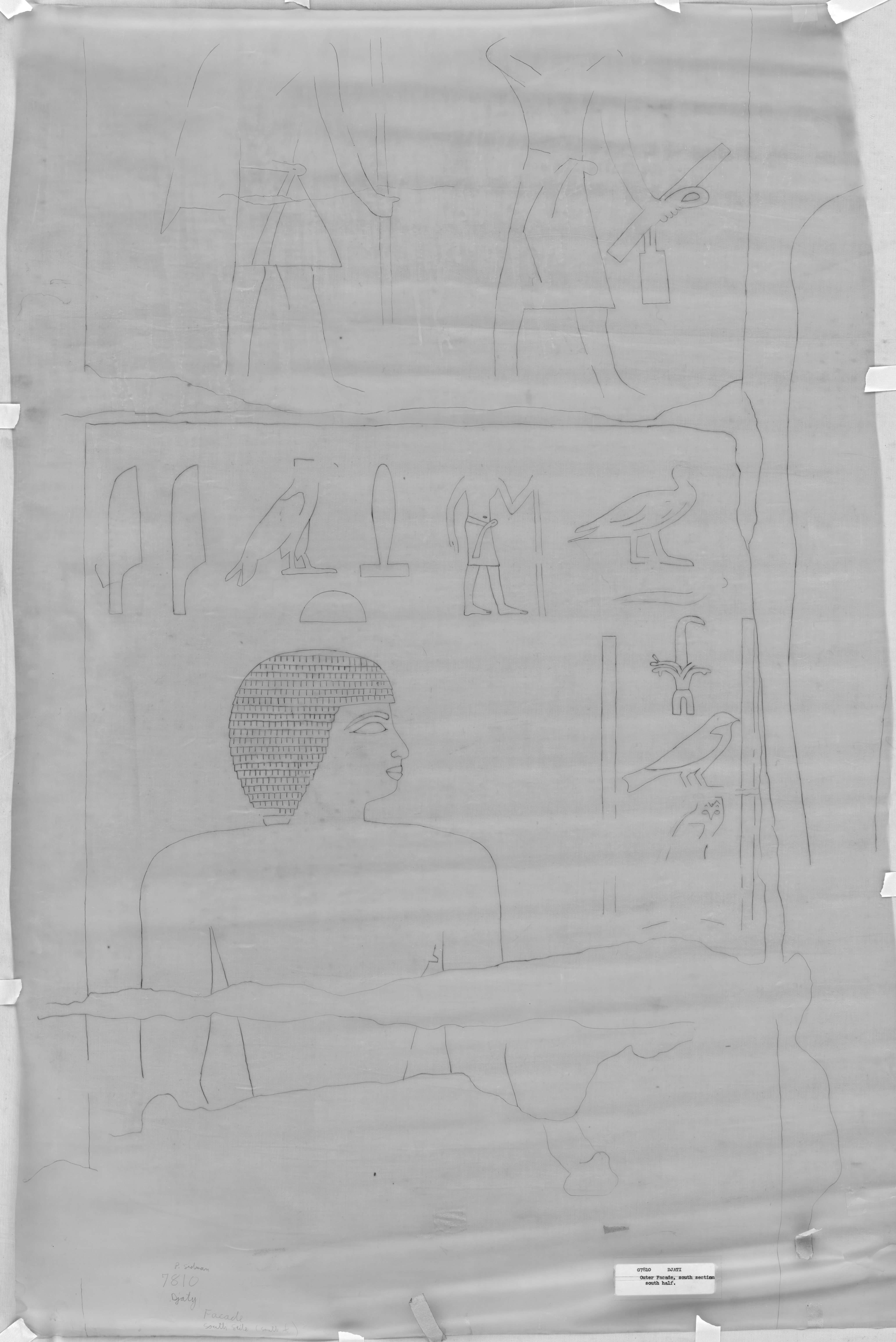 Drawings: G 7810: relief from outer facade, S of entrance