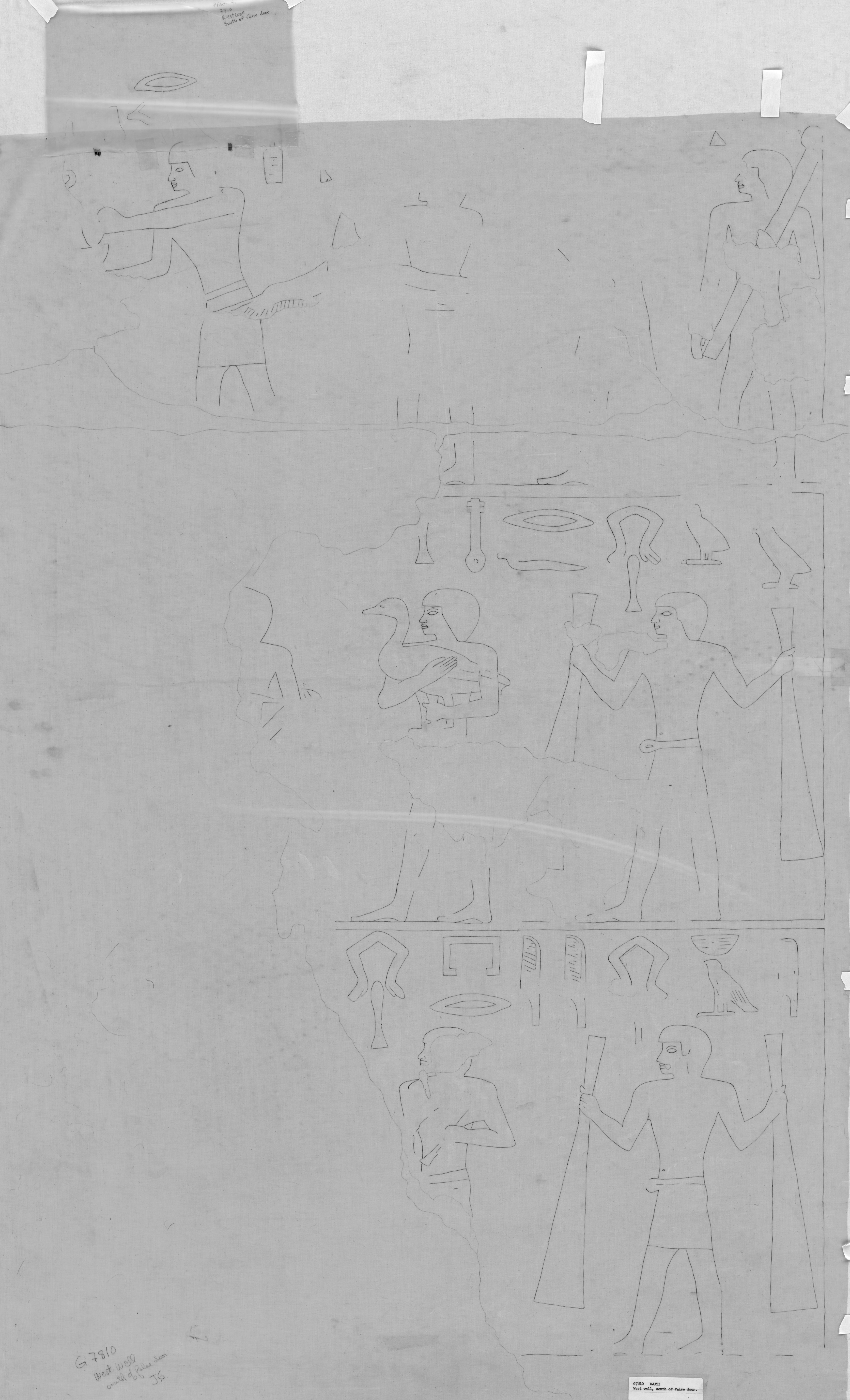 Drawings: G 7810: relief from W wall, S of false door