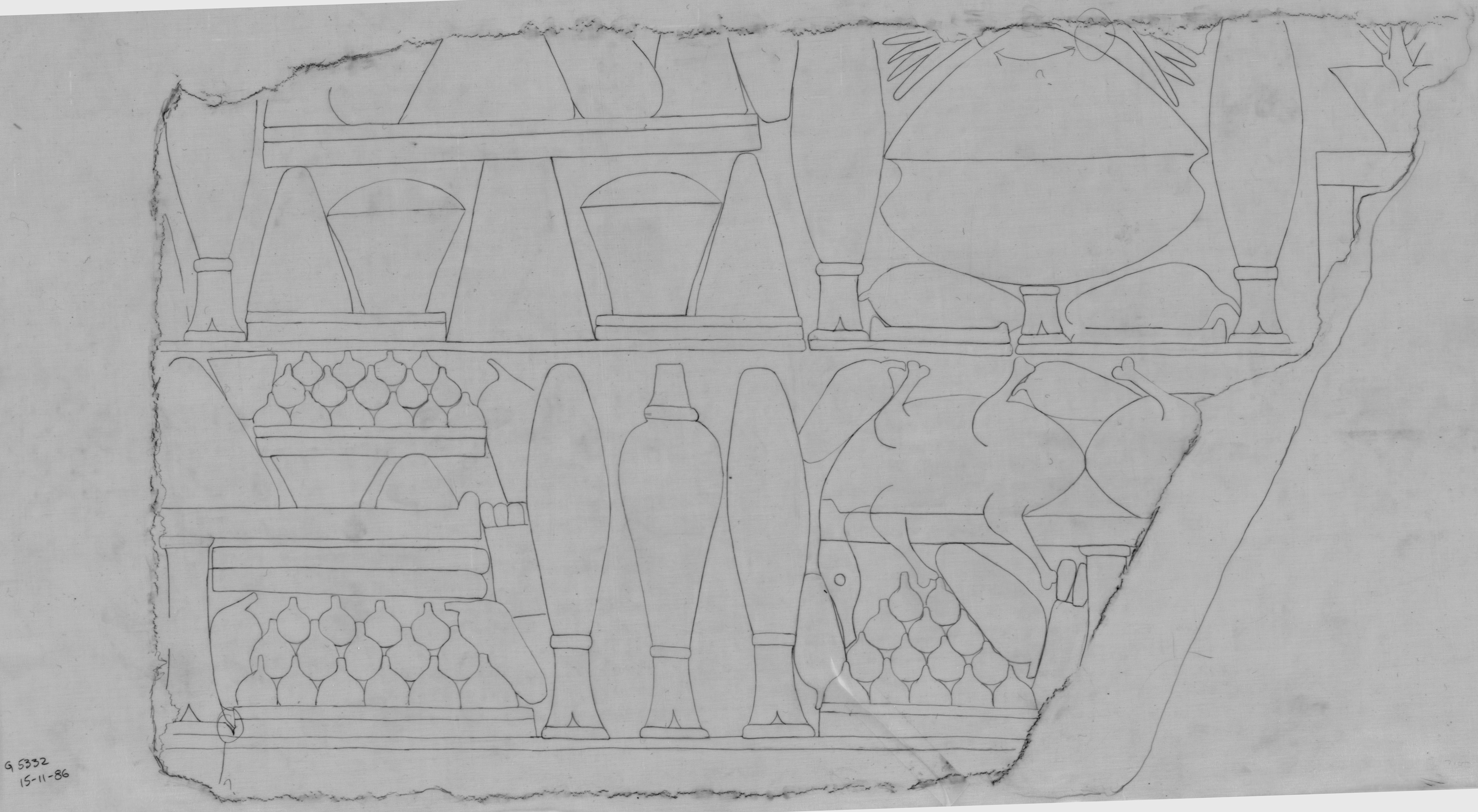 Drawings: G 5332: relief from blocks