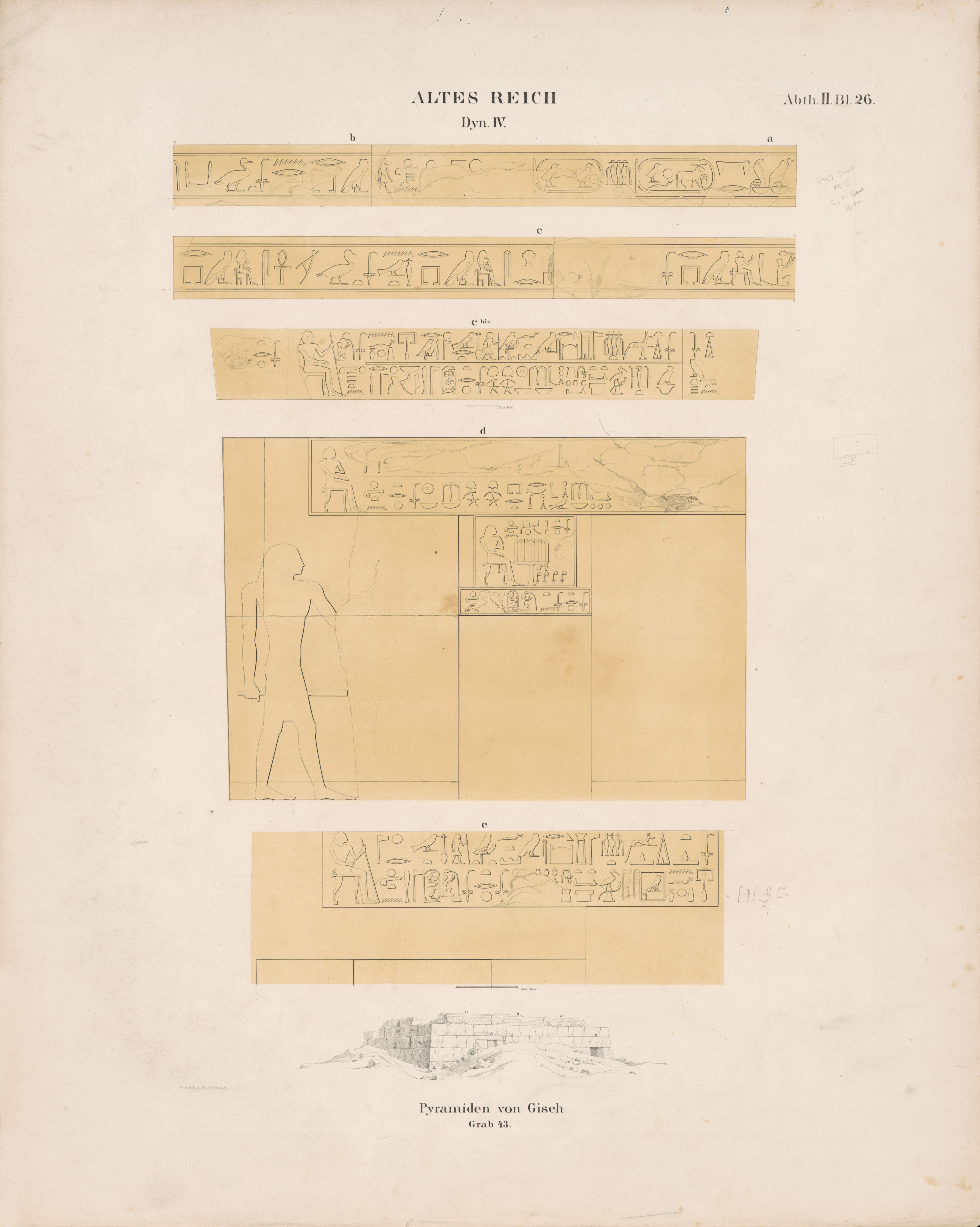 Drawings: G 5210 (= Lepsius 43): relief from E face