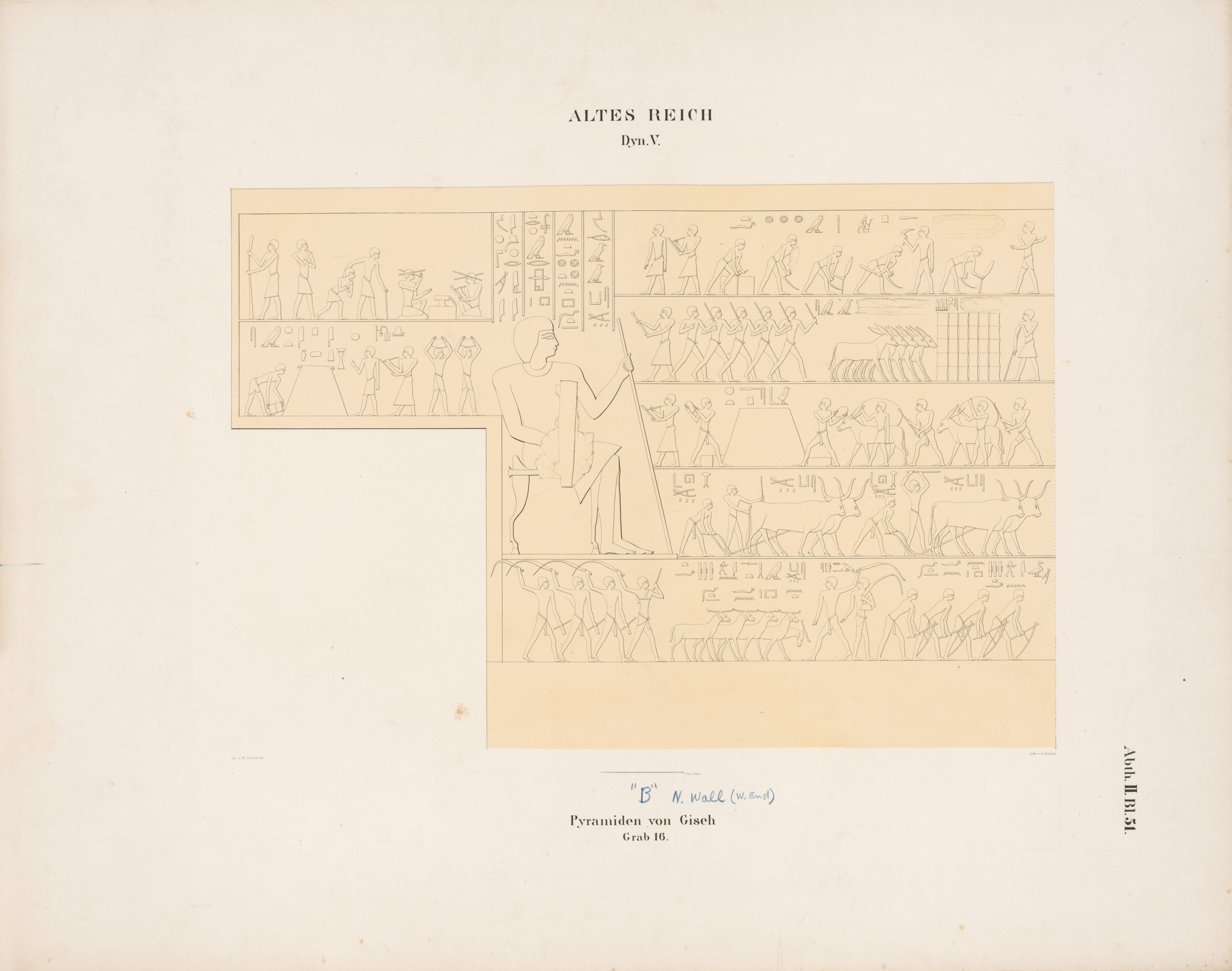 Drawings: G 6020 (= Lepsius 16): relief from Chamber 2, N wall