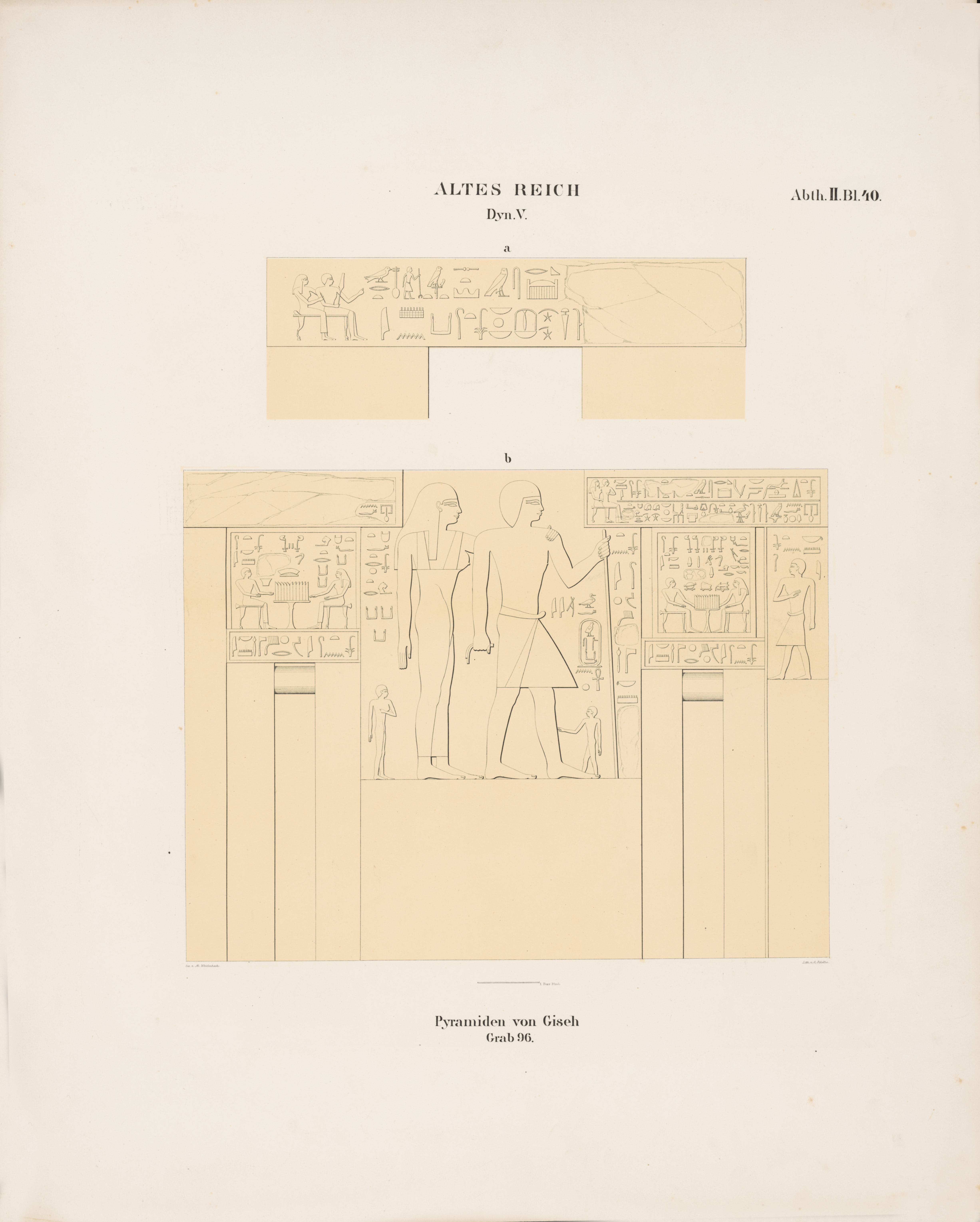 Drawings: G 8664 (= Lepsius 96): relief from architrave and W wall
