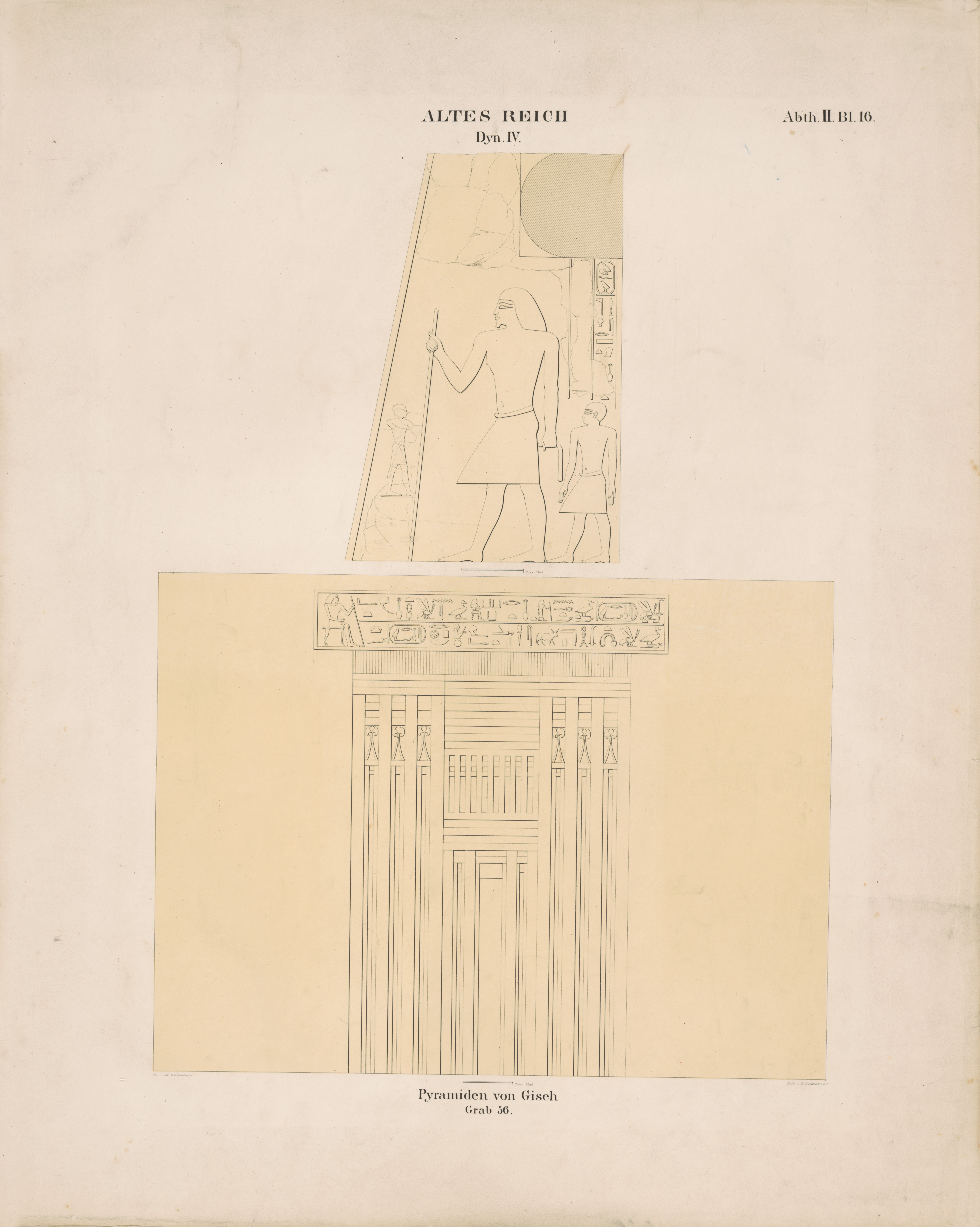 Drawings: G 7070 (=Lepsius 56):  S jamb and false door