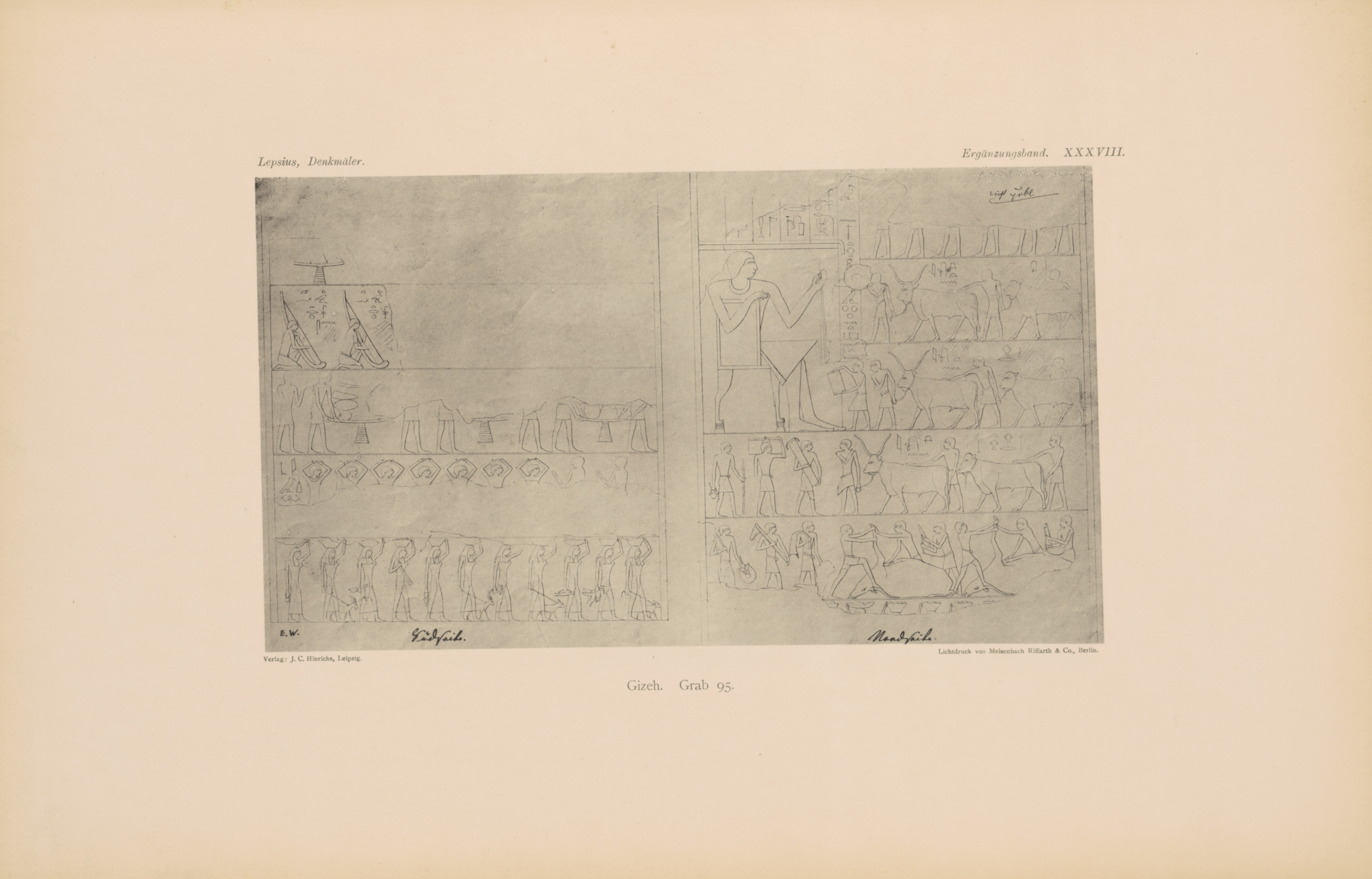 Drawings: G 8674 (= Lepsius 95): relief from N wall and S wall
