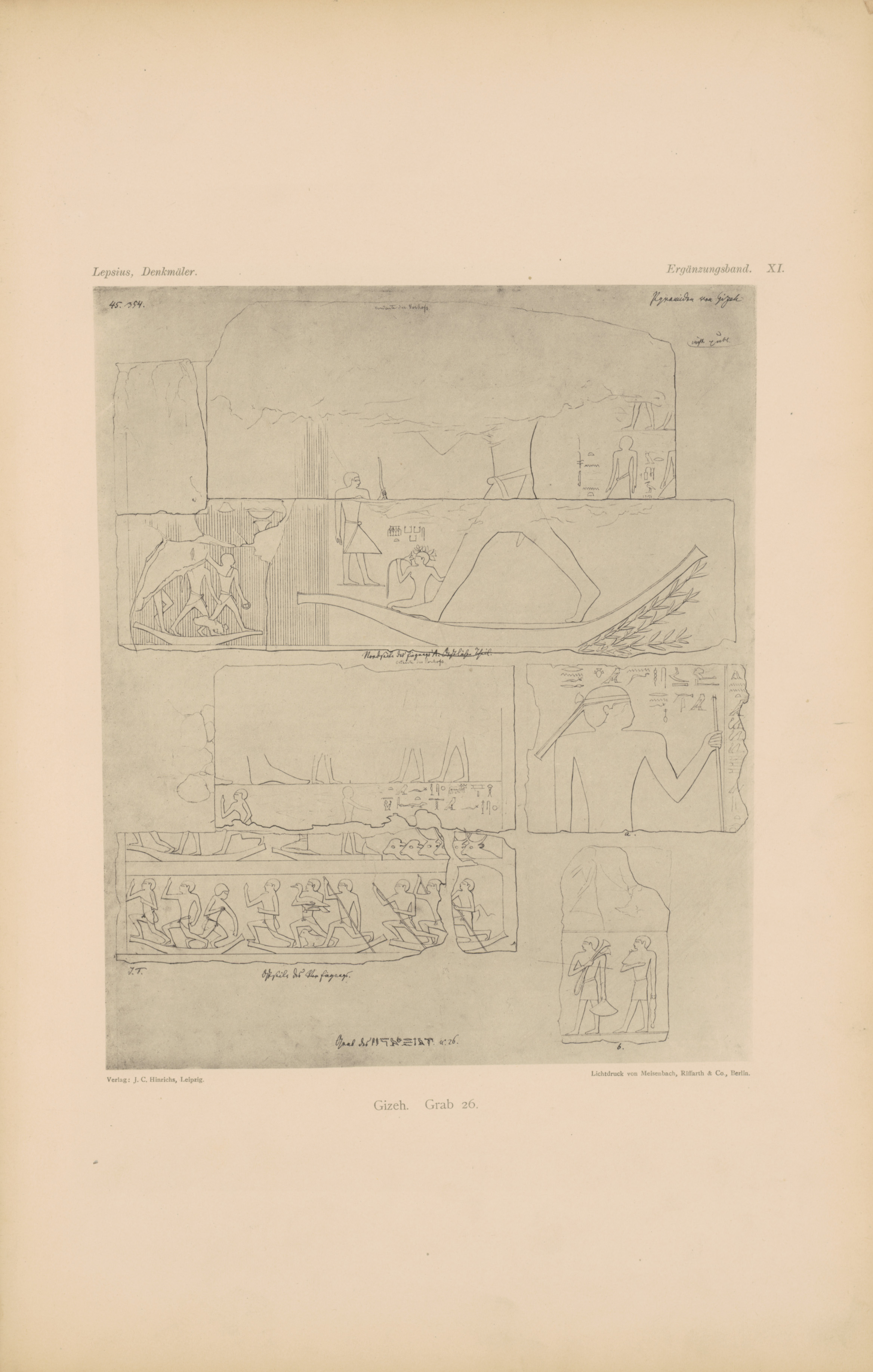 Drawings: G 2378 (= Lepsius 26): relief from portico, N wall, E of entrance and portico, E wall