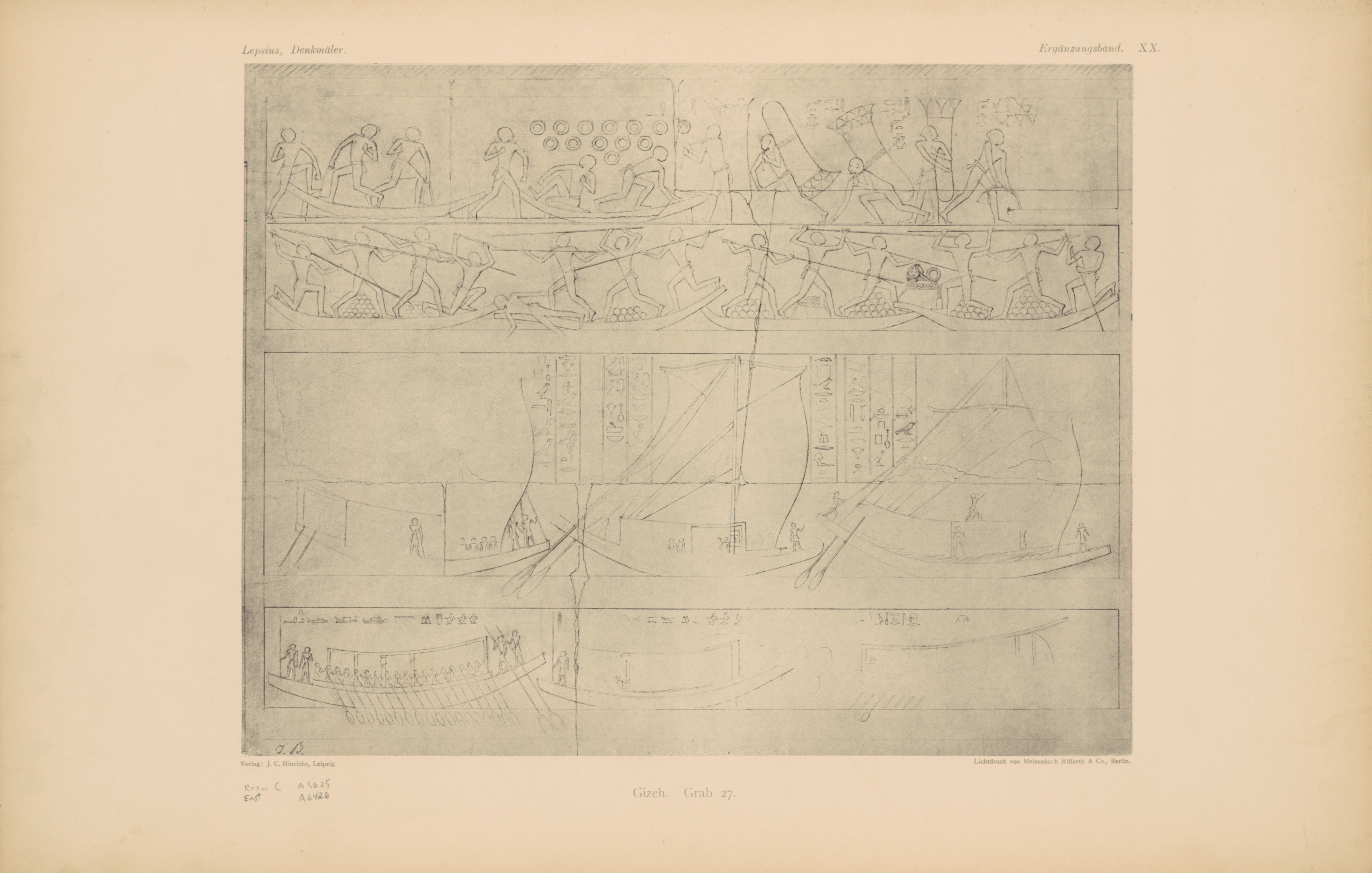 Drawings: G 2370 (= Lepsius 27): relief from Room II, E wall
