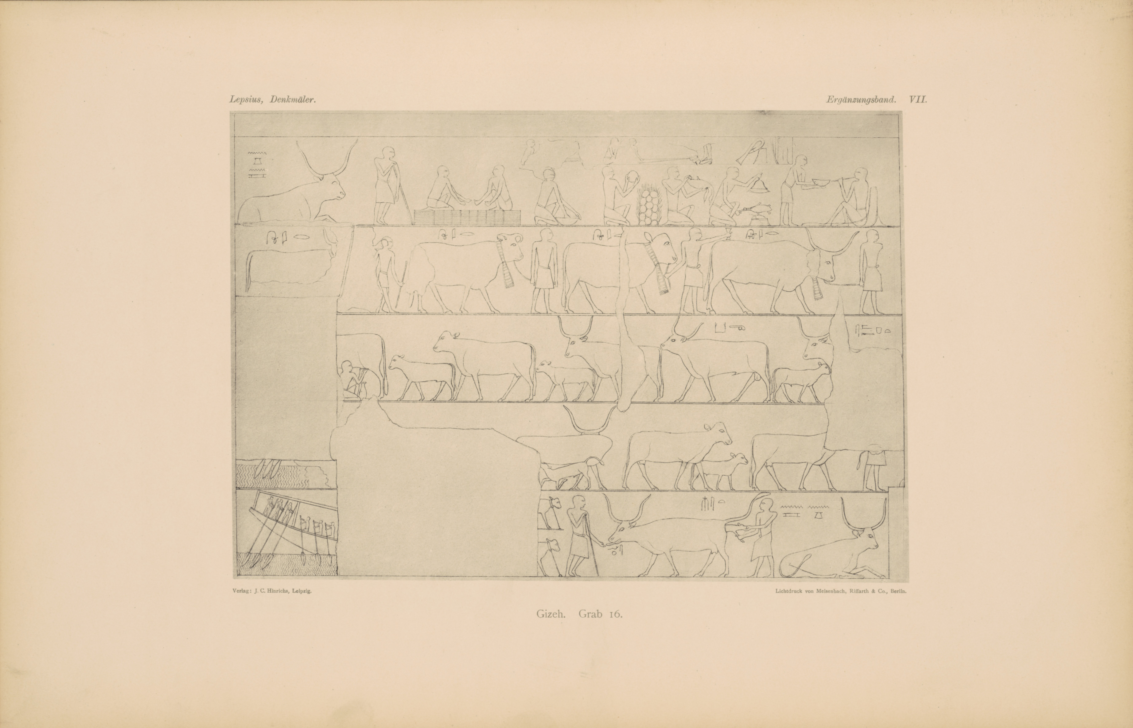 Drawings:  G 6020 (= Lepsius 16): relief from Chamber 2, S wall