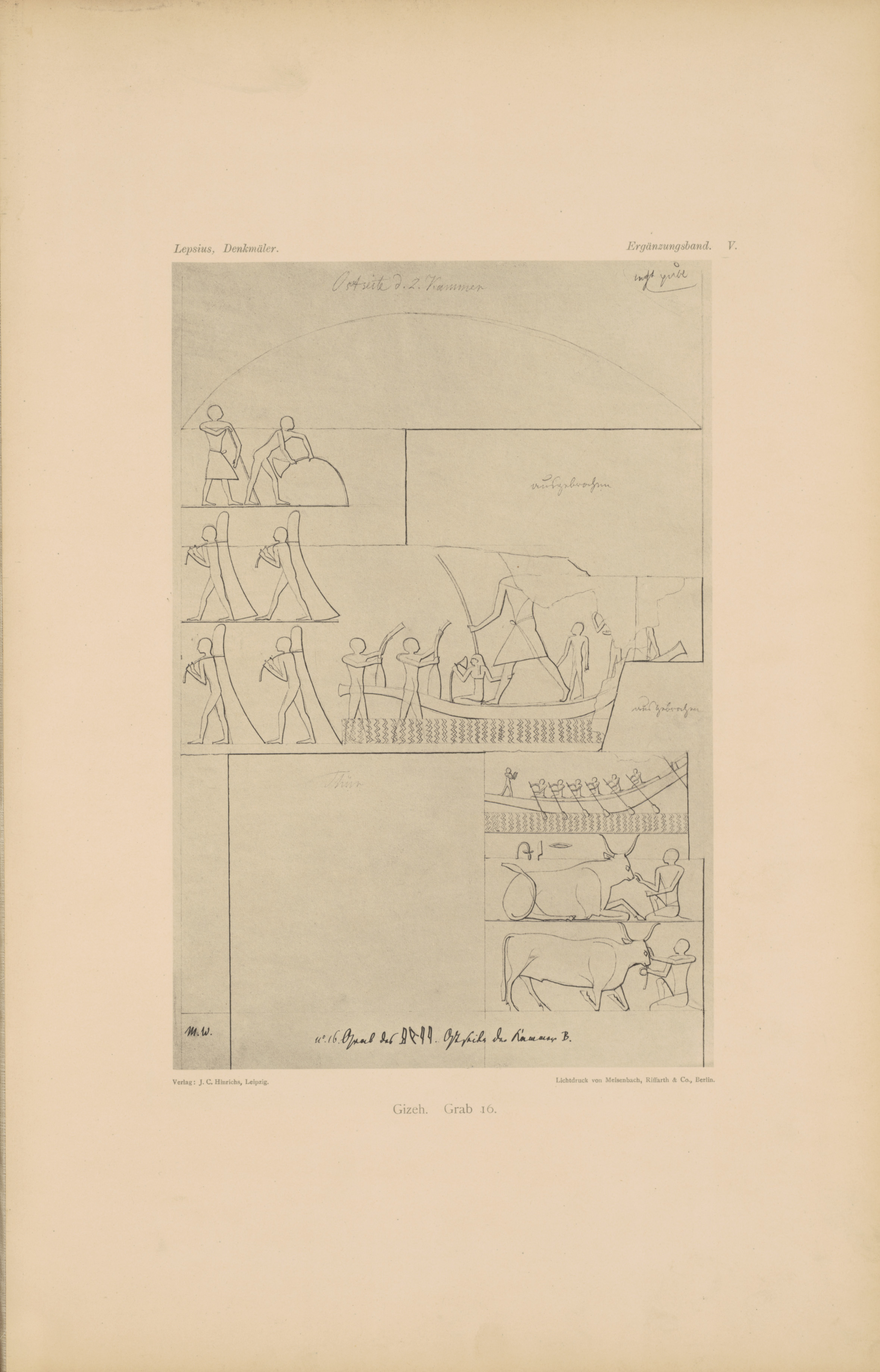 Drawings: G 6020 (= Lepsius 16): relief from chamber 2, E wall