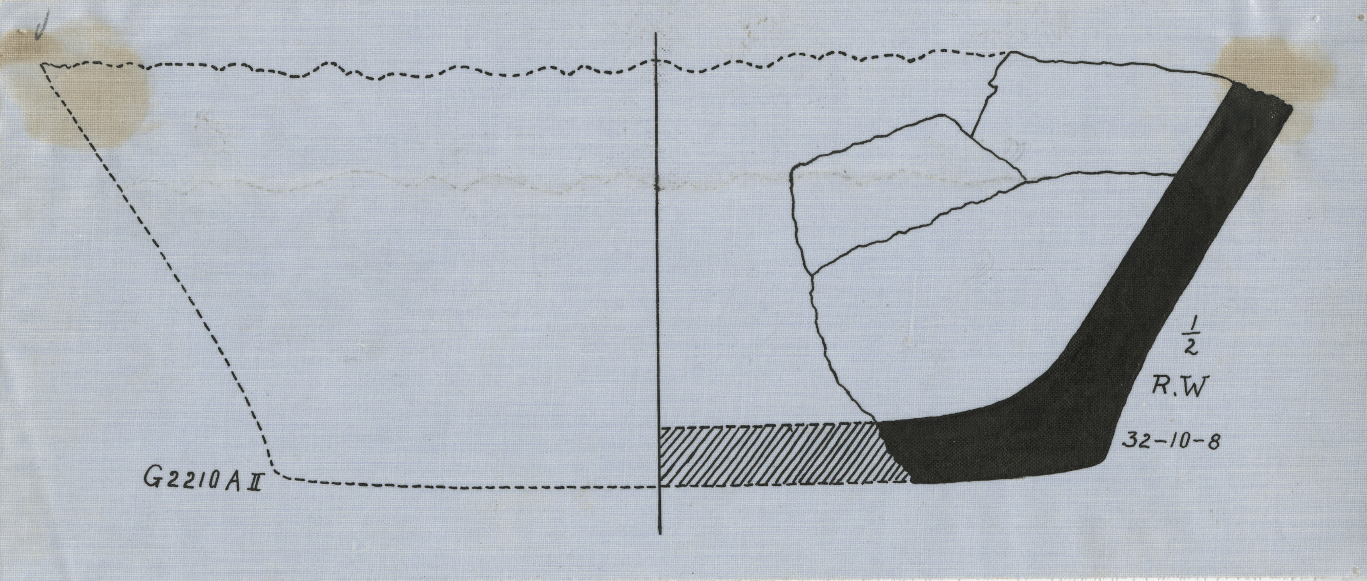 Drawings: G 2210, Shaft A: pottery, bowl