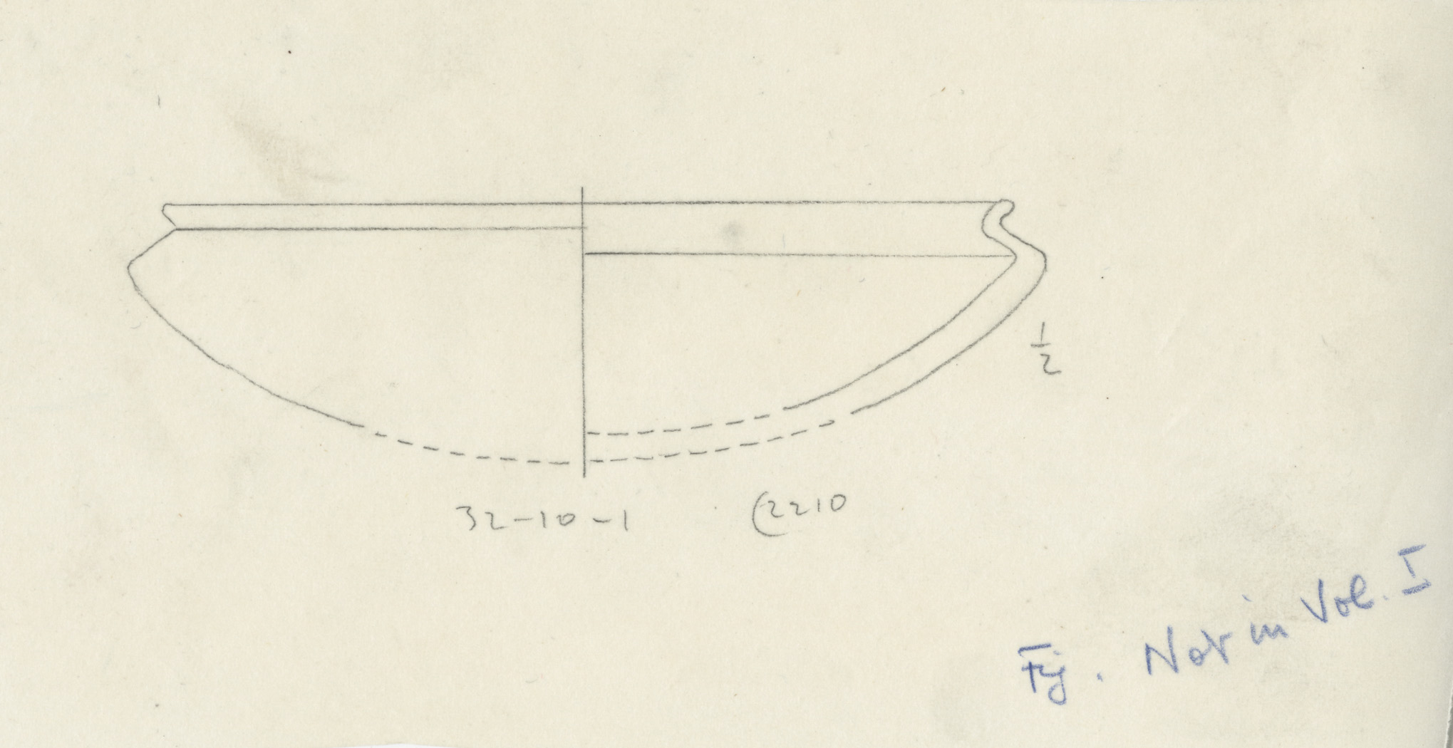 Drawings: G 2210, Shaft A: pottery, bowl with recurved rim