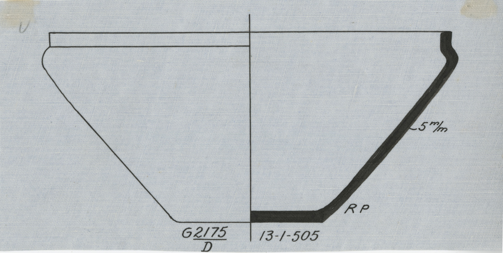 Drawings: G 2175, Shaft D: pottery, bowl