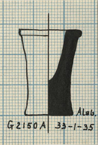 Drawings: G 2150, Shaft A: model jar, alabaster